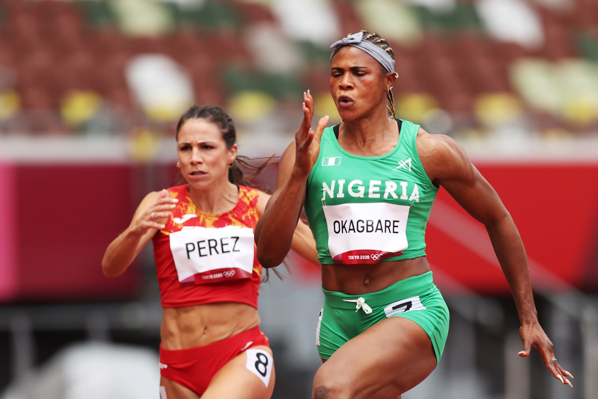 Sprinter Blessing Okagbare was among the Nigerian athletes cleared to compete at Tokyo 2020 but was then suspended after running the first round of the 100m following a positive drugs test before the Olympics ©Getty Images