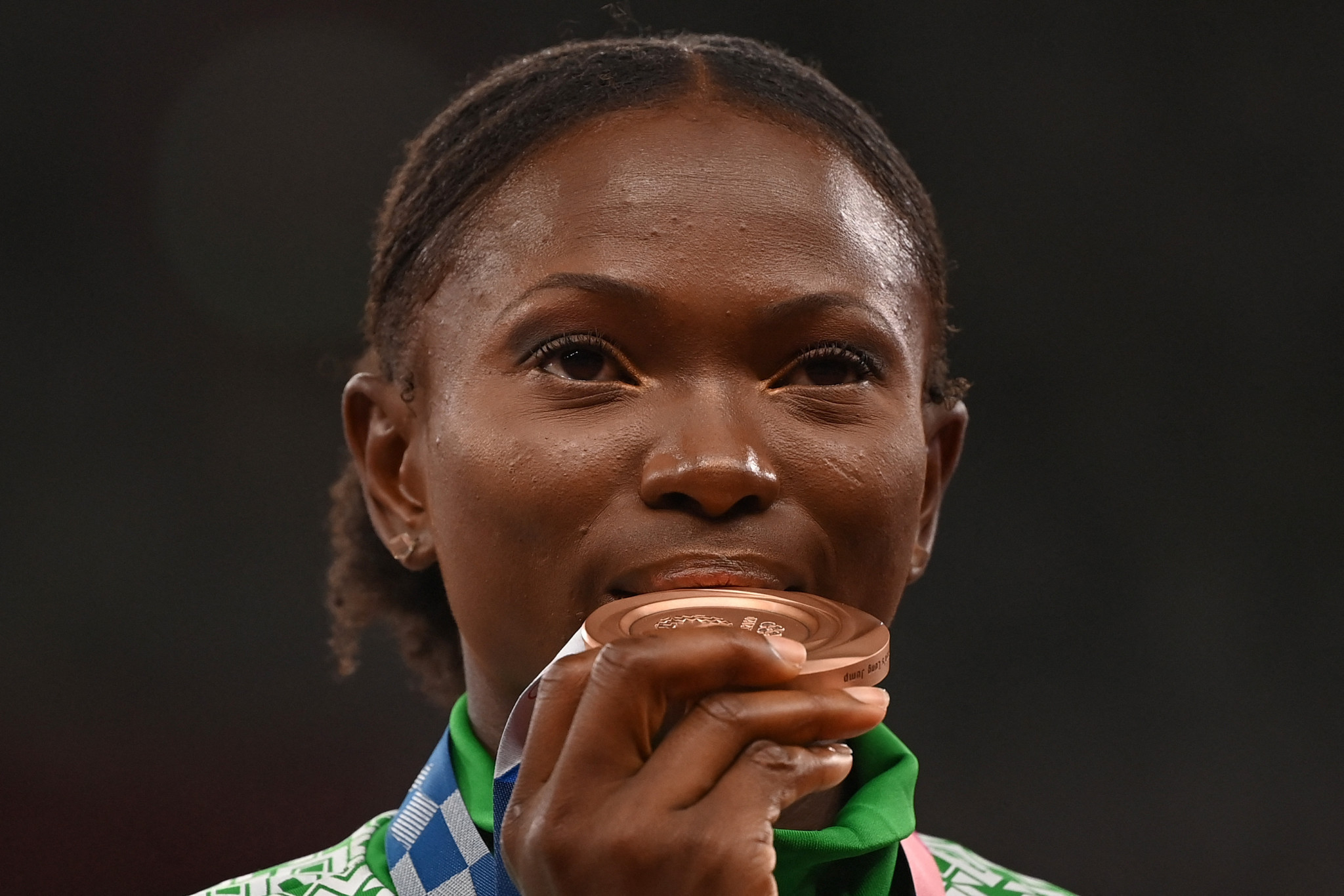Ese Brume has won Nigeria's only Olympic medal in athletics so far, a bronze in the long jump ©Getty Images