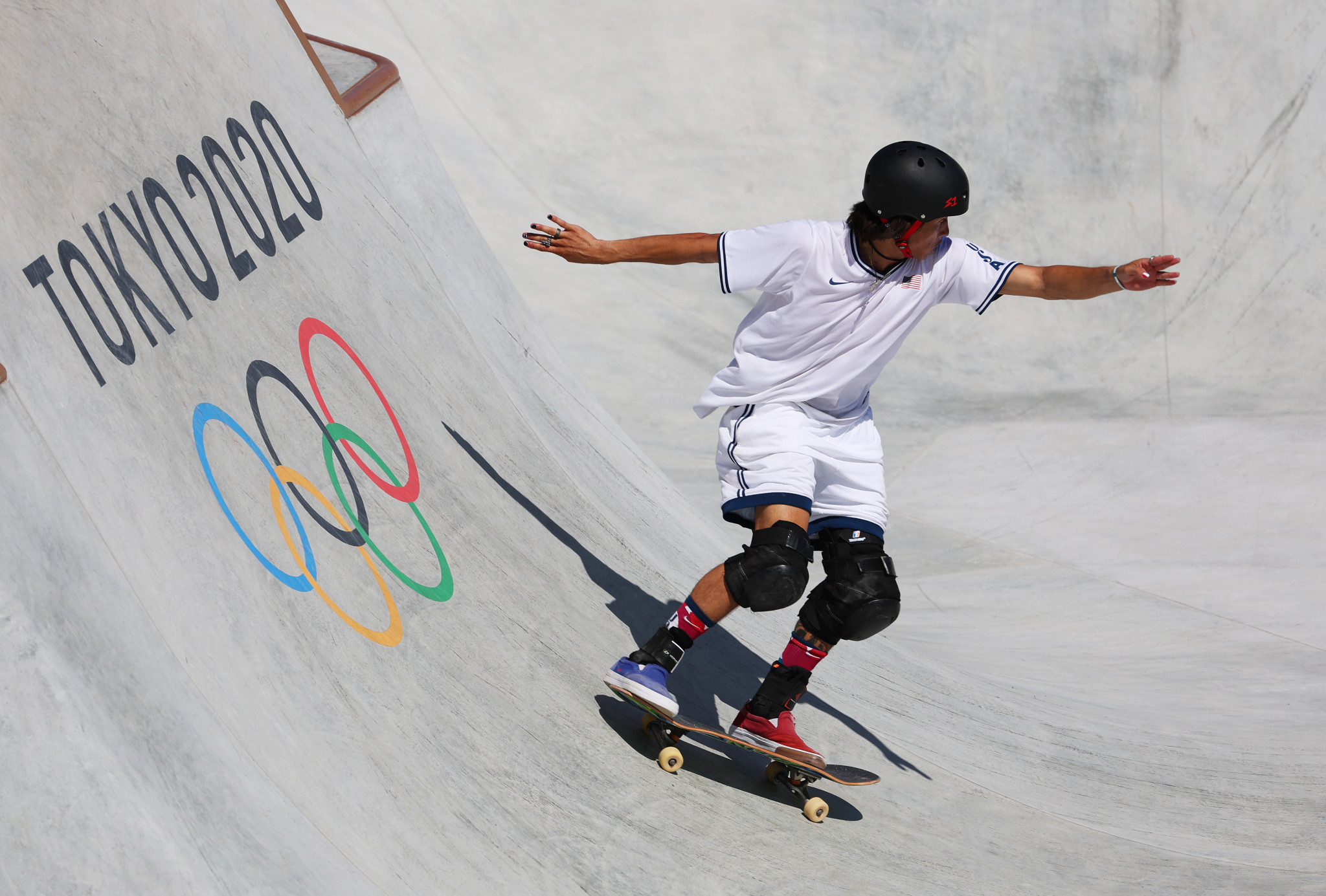 Pre-competition favourite Heimana Reynolds did not qualify for the men's park skateboarding final ©Getty Images