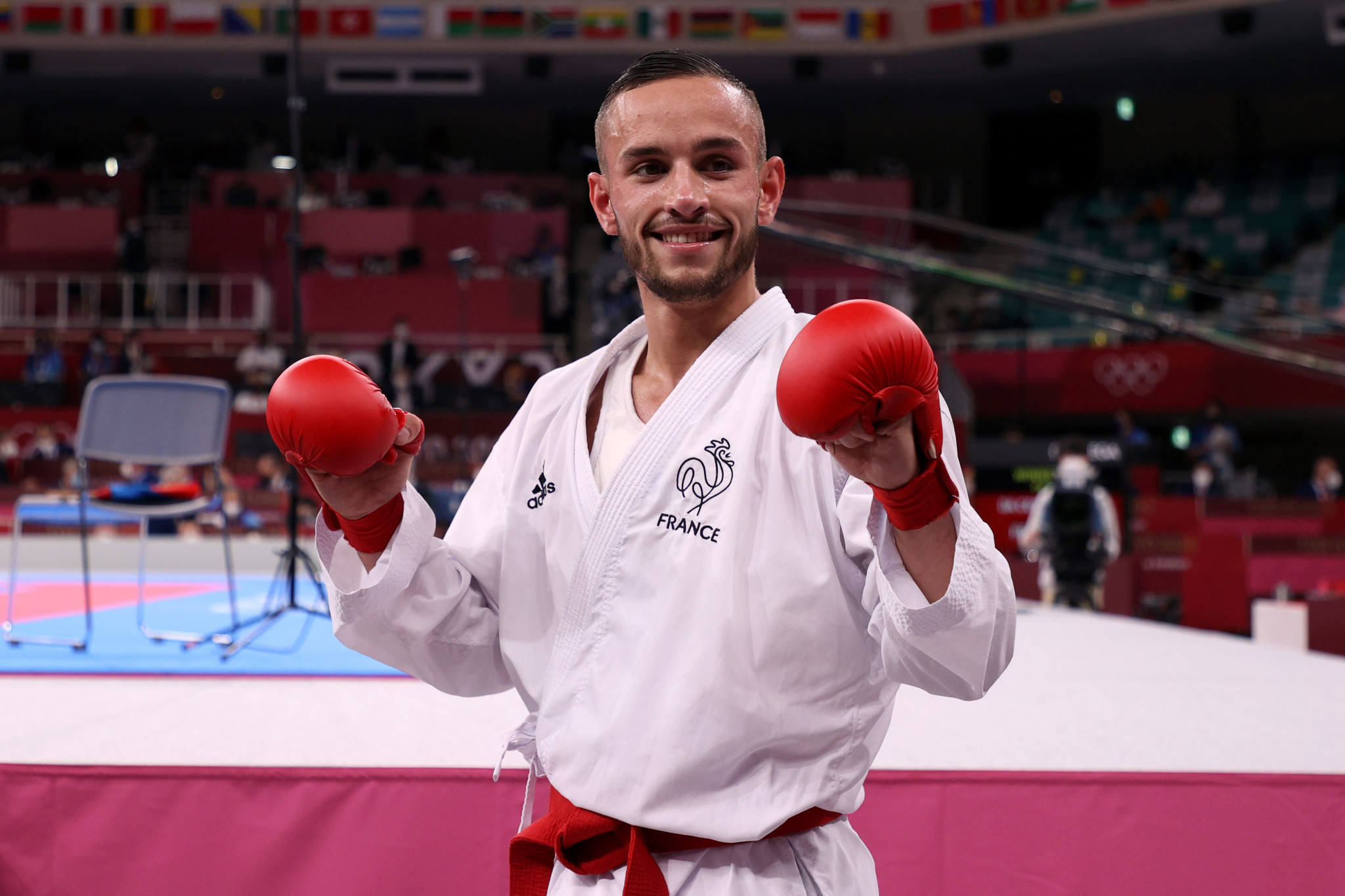 Steven Da Costa became the first male Olympic champion in karate, and the first in kumite ©Getty Images
