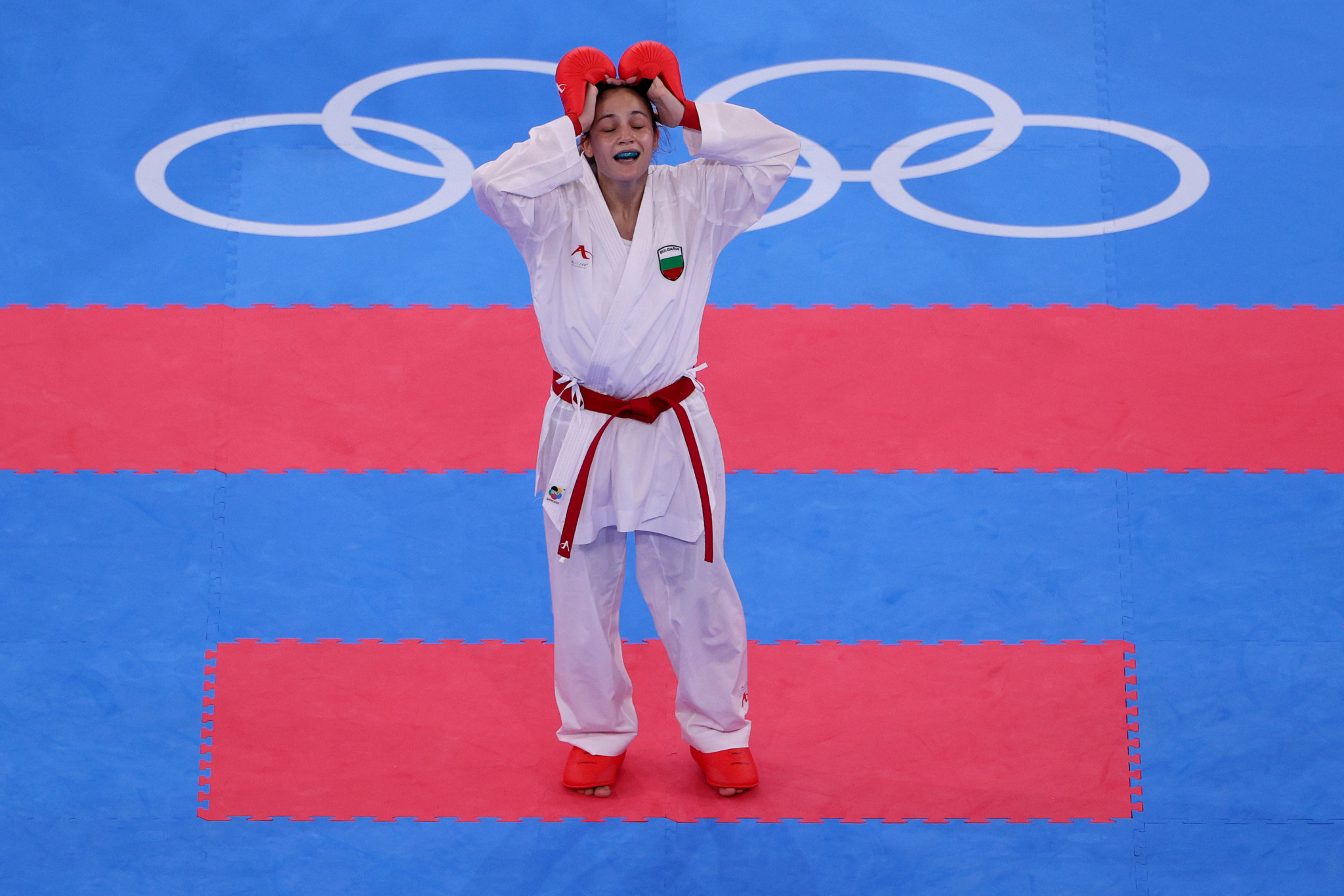 Ivet Goranova tasted glory on the first night of Olympic karate finals ©Getty Images