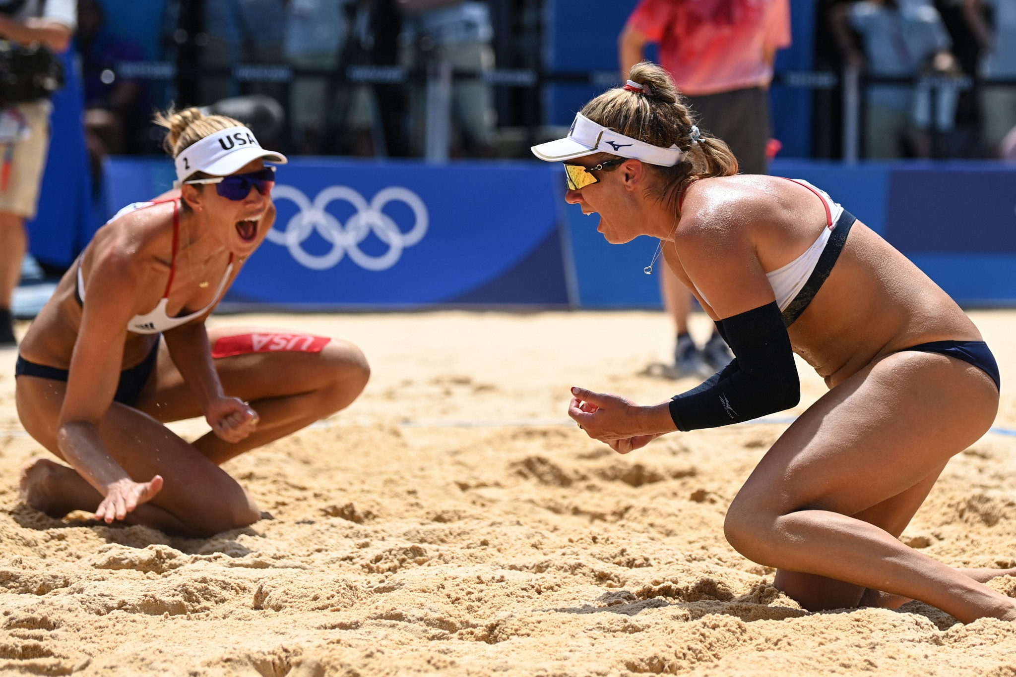 Ross and Klineman handle searing heat to win Olympic beach volleyball gold