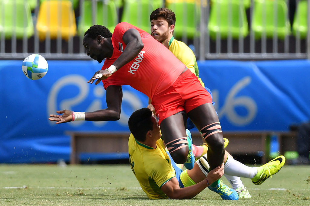 Kenyan rugby sevens Humphrey Kayanage has been appointed to the IOC Athletes' Commission ©Getty Images