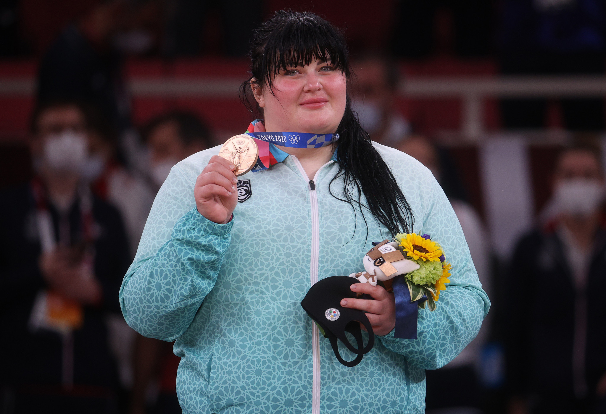 Iryna Kindzerska won Azerbaijan's only judo medal at the Tokyo 2020 Olympics -- bronze in the women's over-78kg category at ©Getty Images