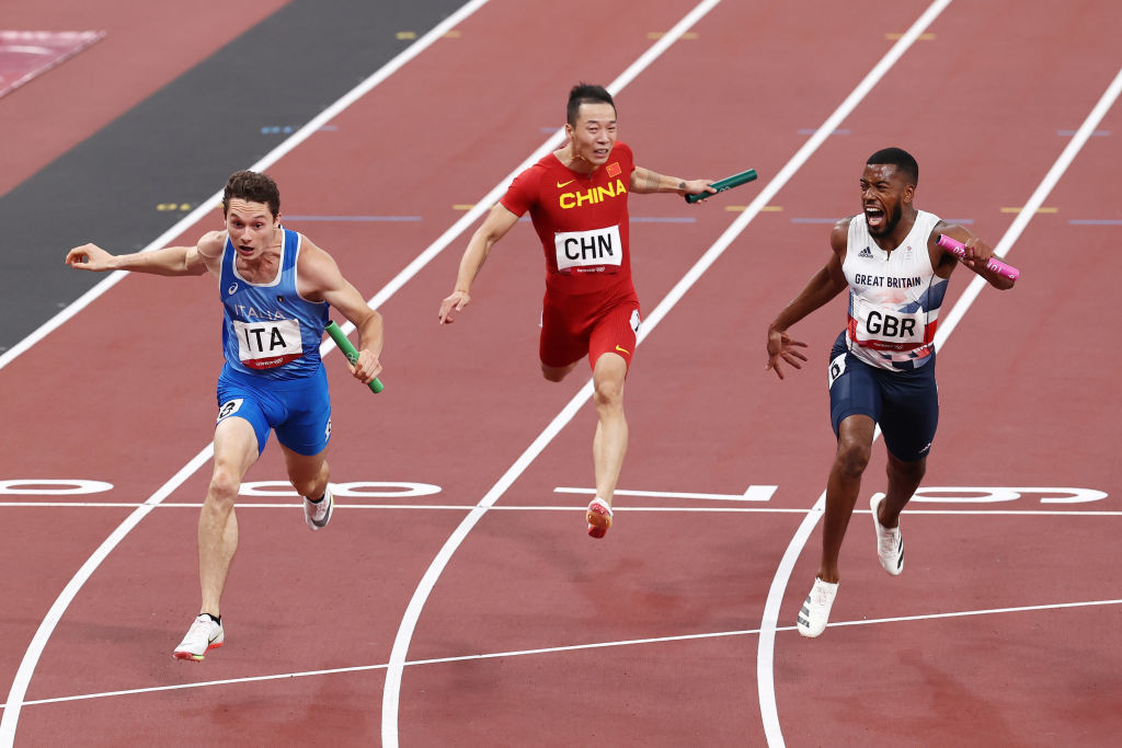 Italy add two more golds in women's 20km race walk and men's 4x100m