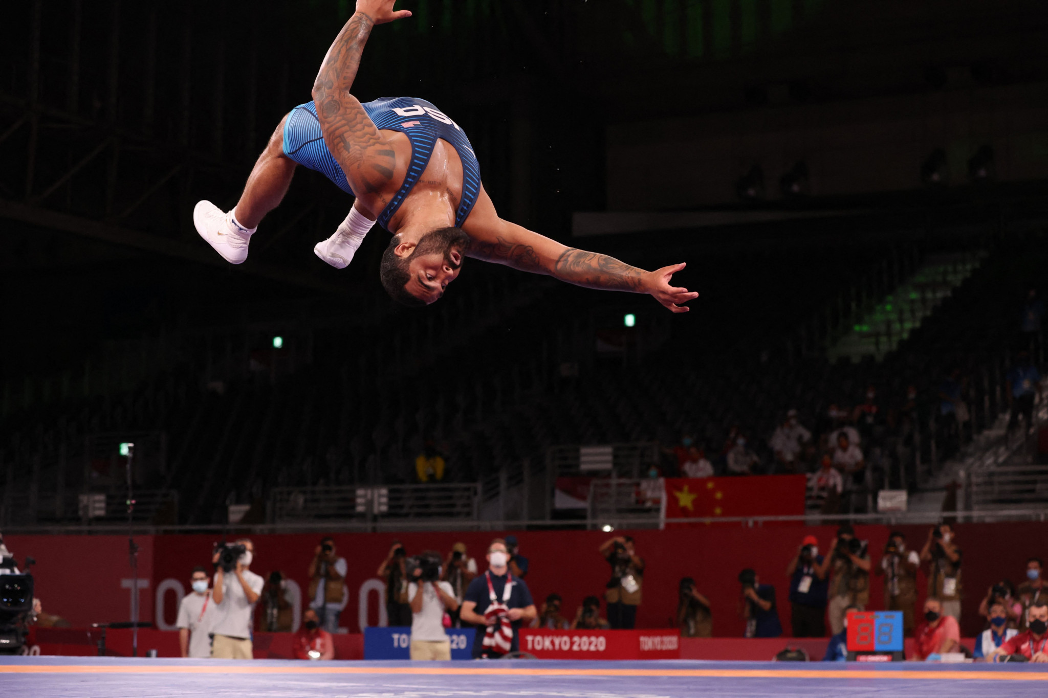 Steveson strikes in final second to win dramatic Olympic wrestling gold