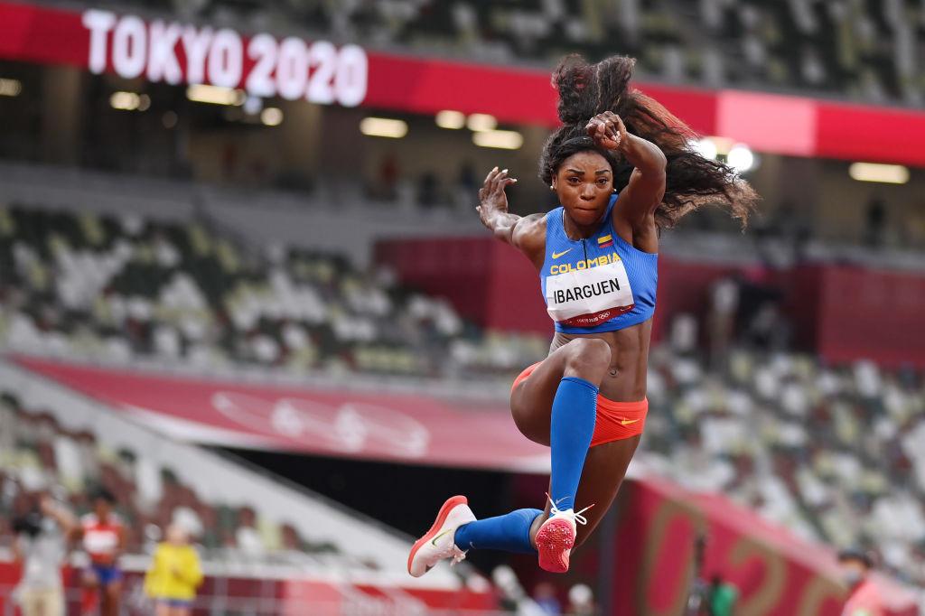 La ex campeona olímpica y mundial de triple salto de Colombia, Catherine Iberguen, se retiró a la edad de 37 años después de competir en la final aquí a principios de esta semana.  © Getty Images