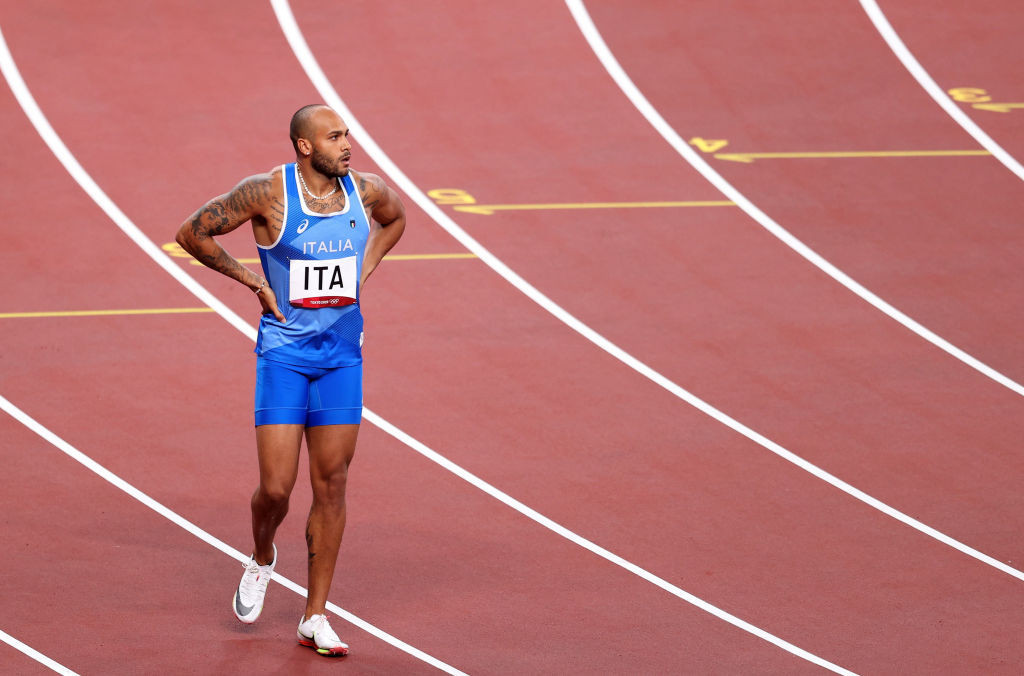 Italy's Marcell Jacobs' agent says he cut ties in March with a fitness expert involved in a police investigation into steroid distribution ©Getty Images