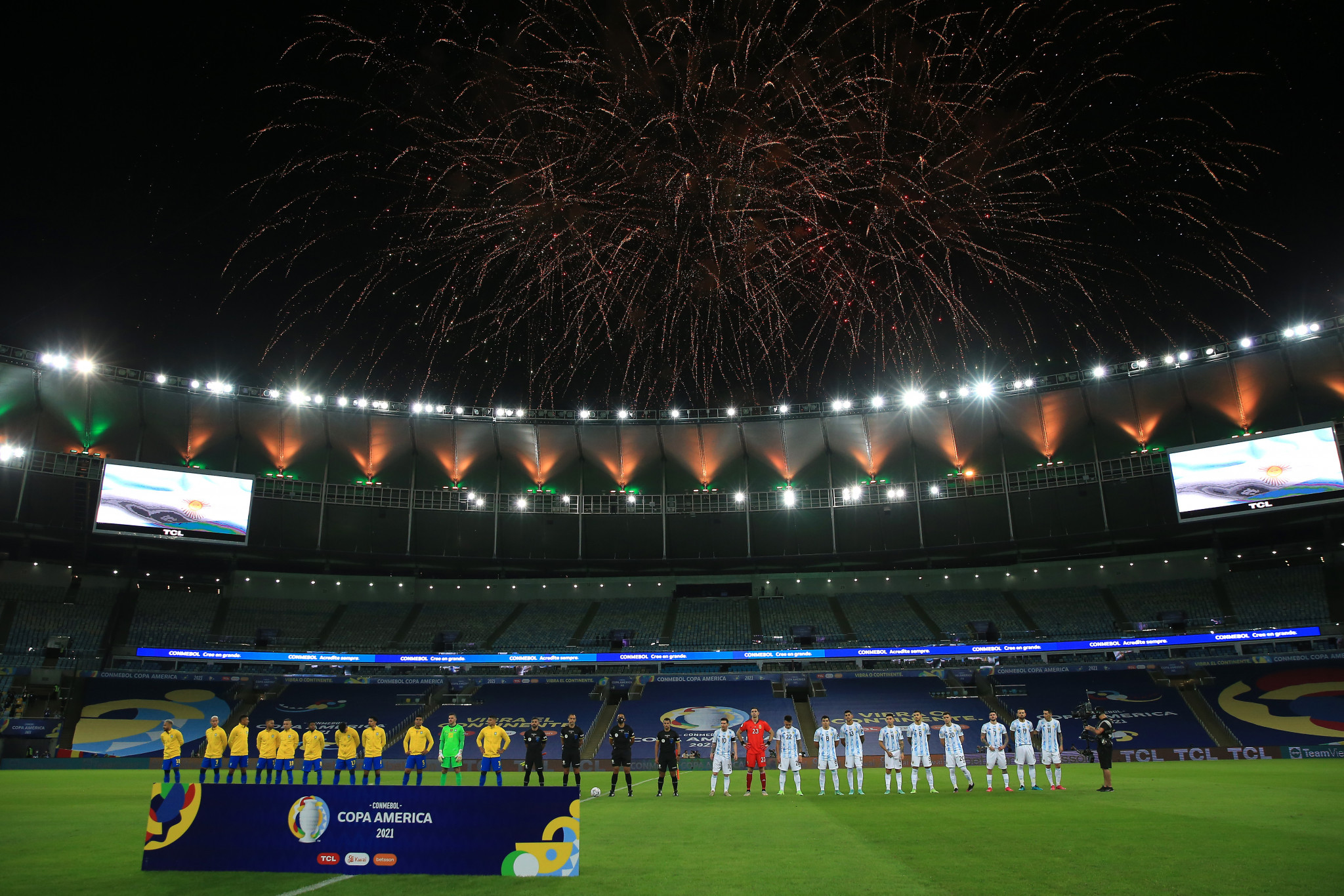 La Copa América 2021 también se vio afectada por el COVID-19, que se movió dos veces y casi la final se jugó a puerta cerrada © Getty Images