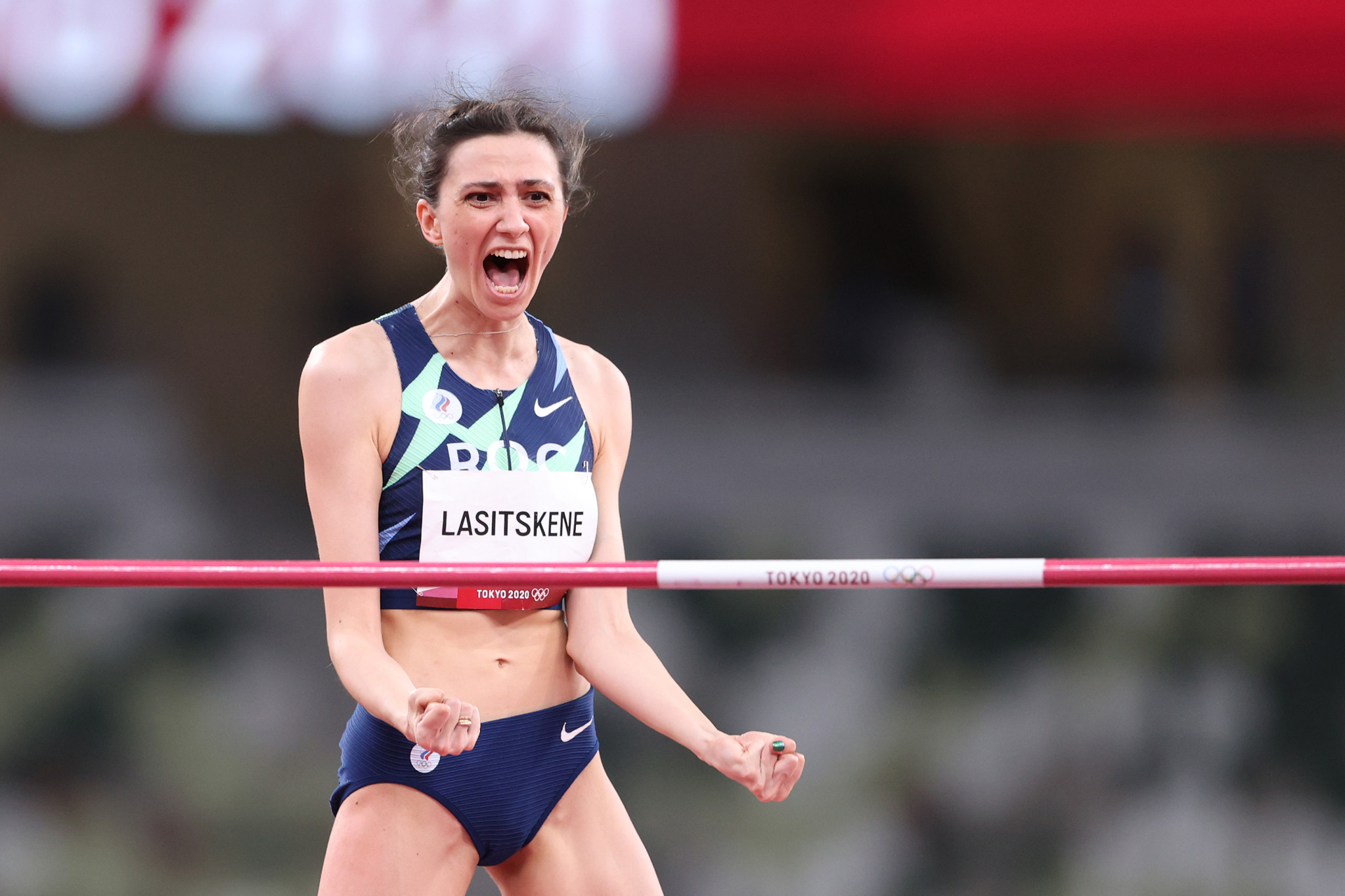 Mariya Lasitskene made up for her Rio 2016 absence with high jump gold at the Tokyo 2020 Olympics ©Getty Images