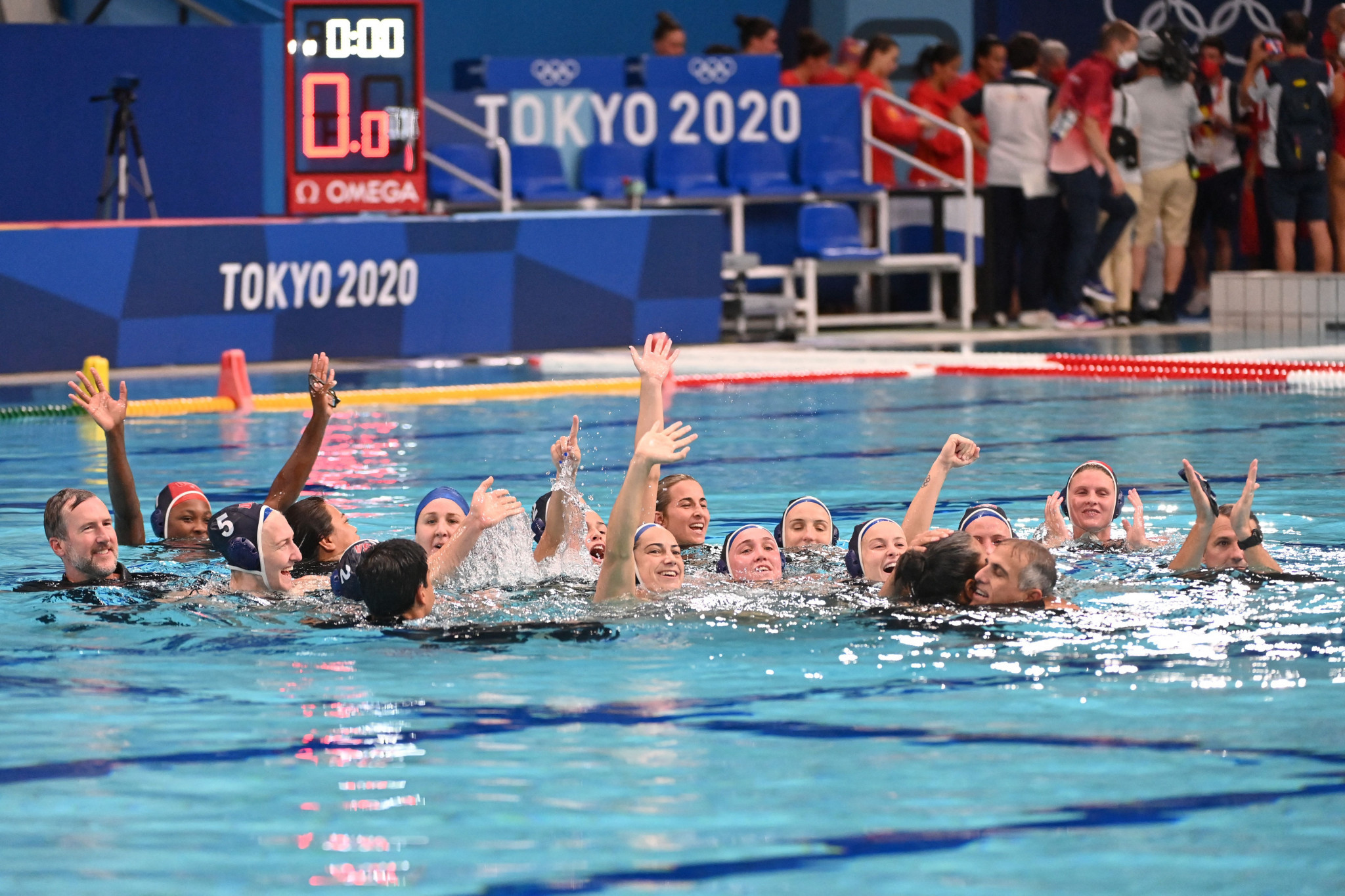 United States win third consecutive Olympic women's water polo gold as Spain brushed aside
