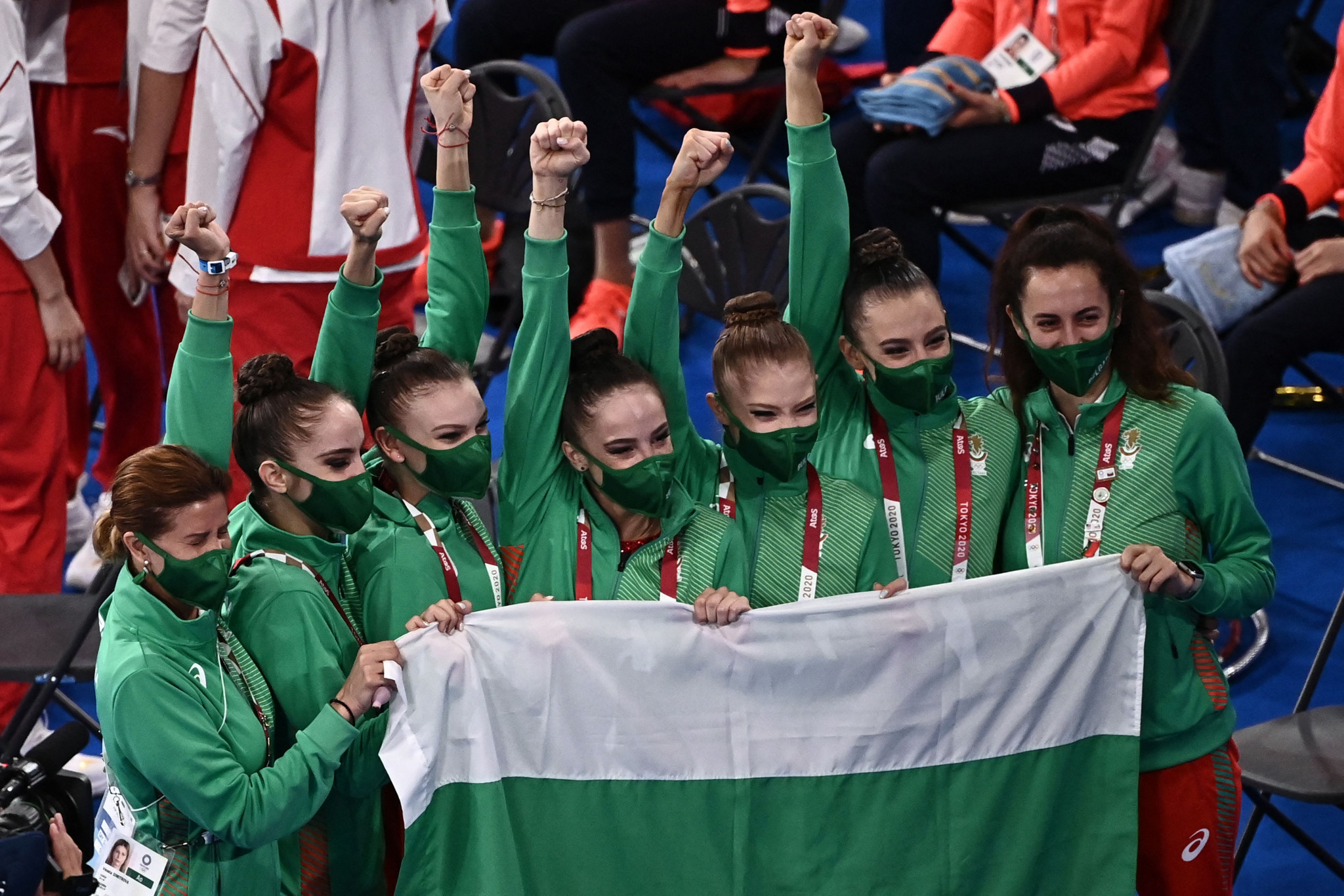 Bulgaria dazzle to win Olympic group all-around title in rhythmic gymnastics