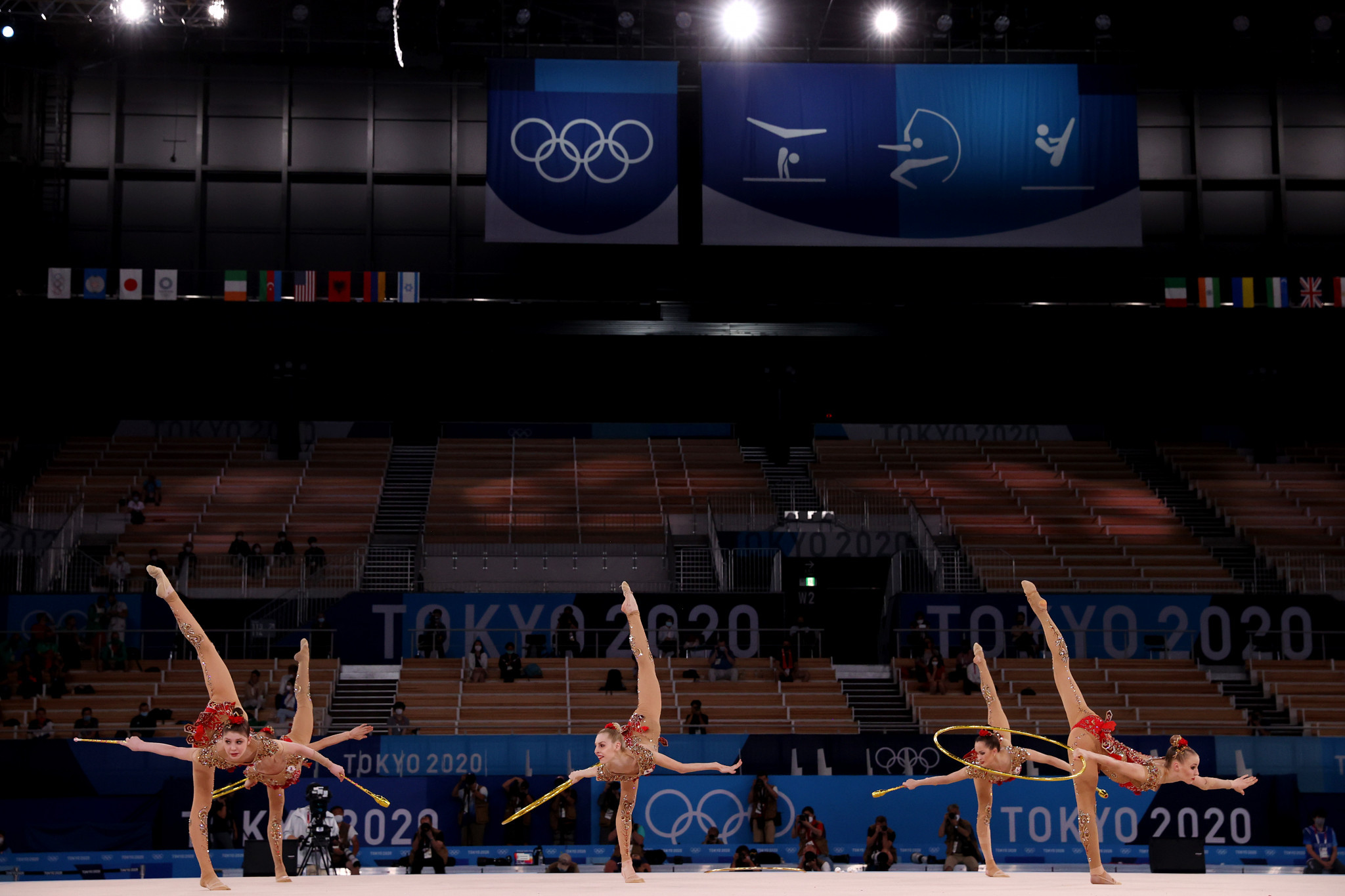 The ROC Team won silver in the group all-around rhythmic gymnastics final ©Getty Images