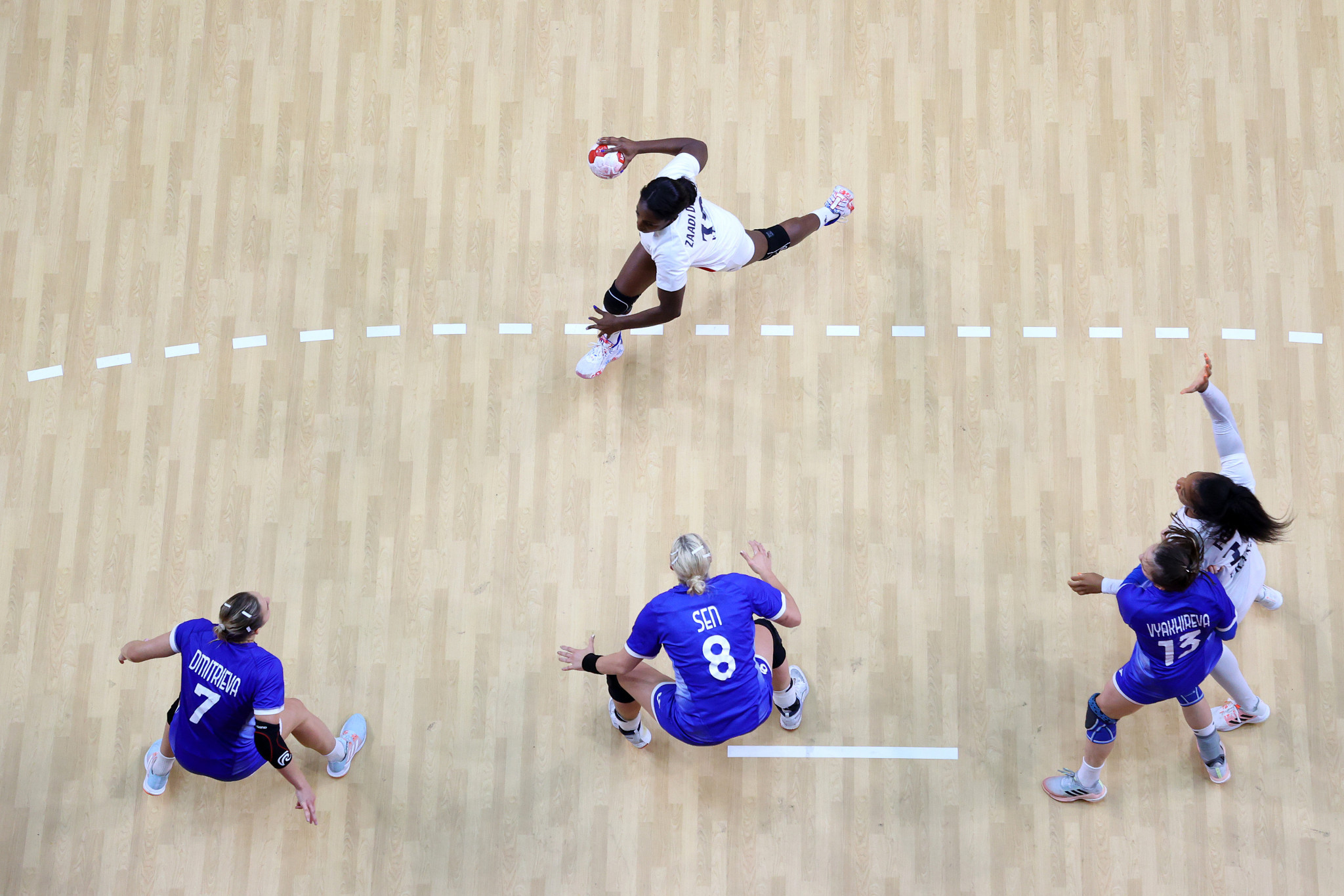 The ROC handball team lost to France in the final of the Tokyo 2020 Olympic Games ©Getty Images