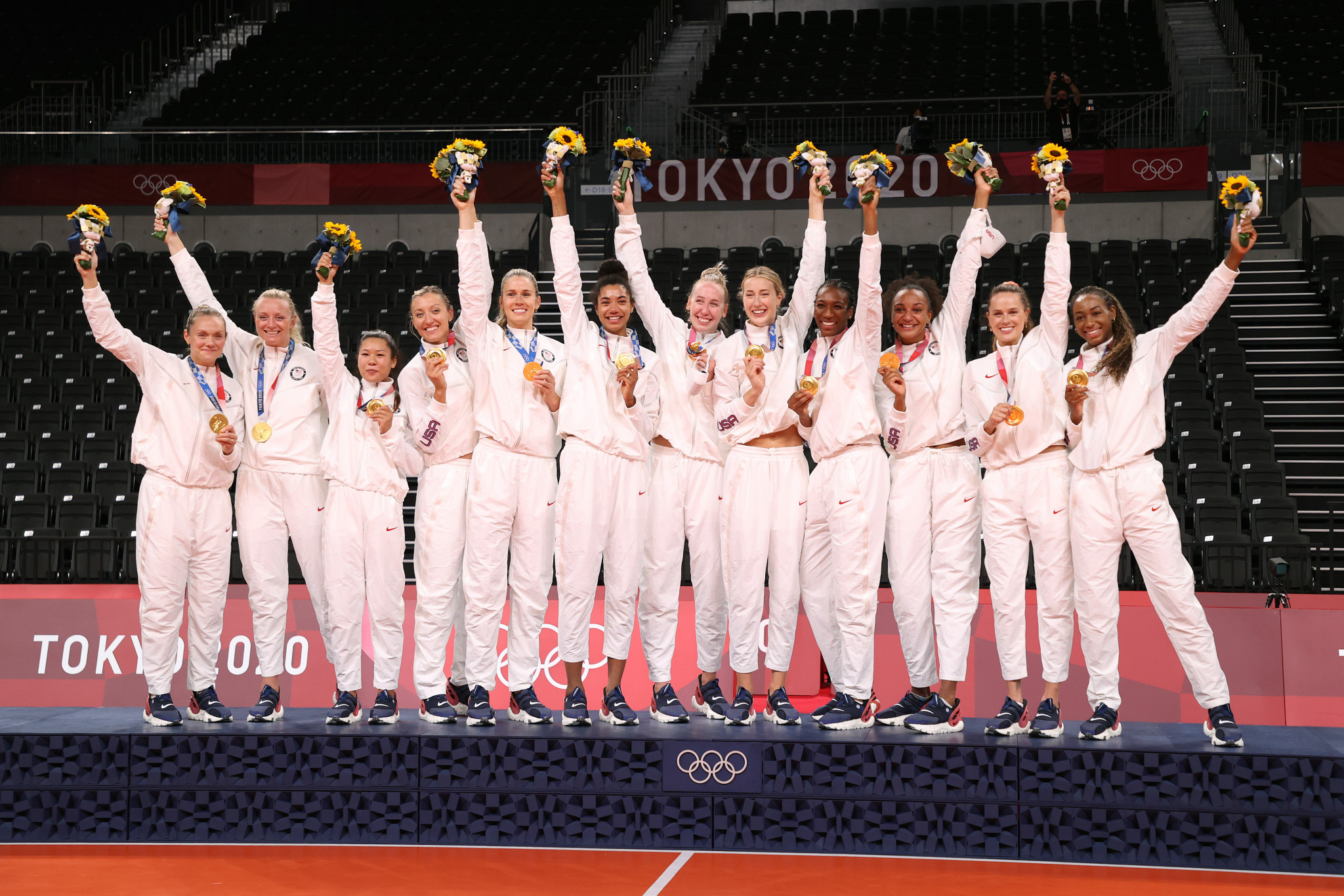 United States dominate Brazil to win inaugural women's volleyball gold