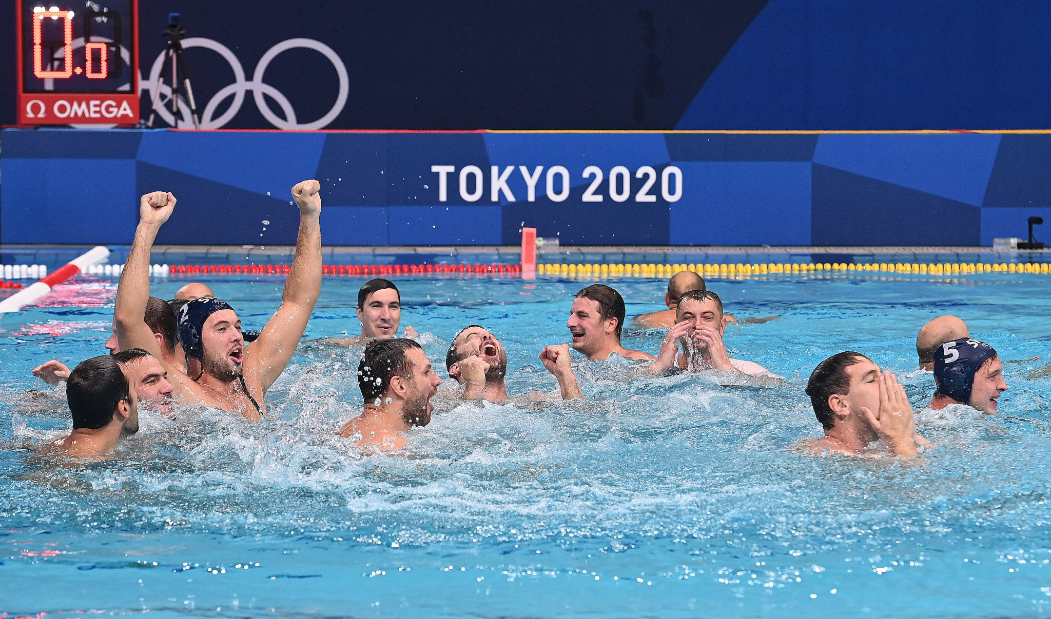 Serbia defend Olympic men's water polo title after hard-fought win over Greece