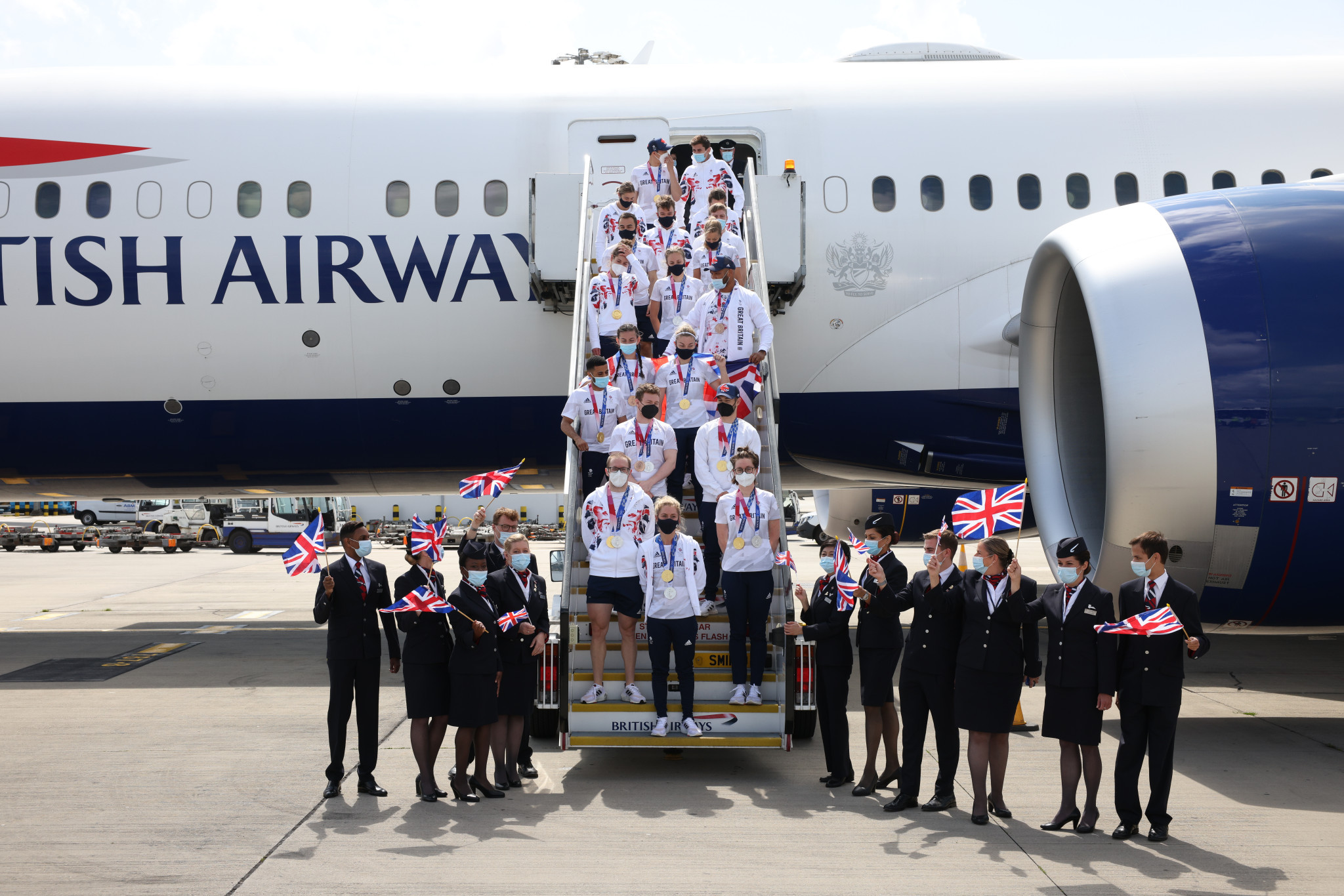 British and German Olympians among those celebrated on return from Tokyo 2020
