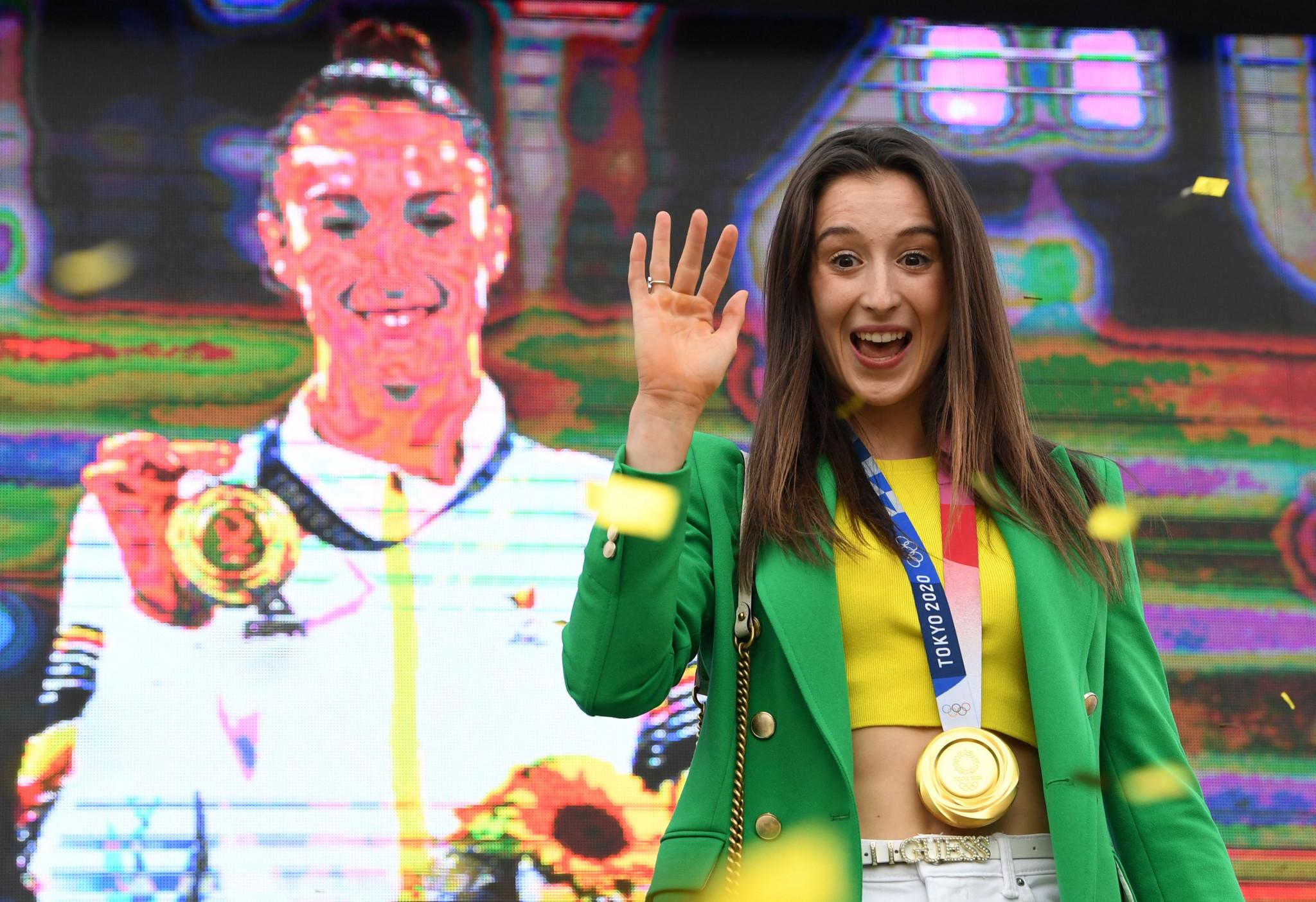Nina Derwael is Belgium's first-ever Olympic gymnastics champion ©Getty Images