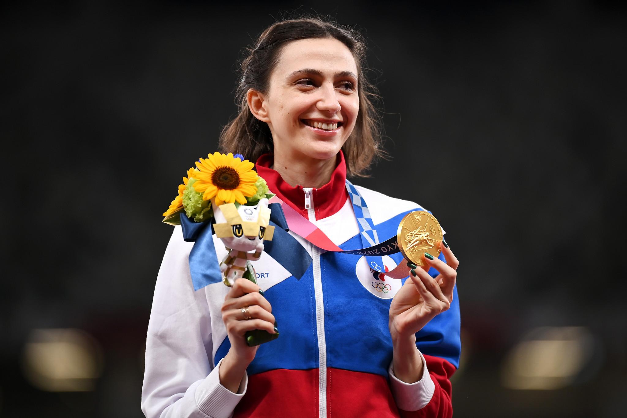 Золотая медалистка по прыжкам в высоту Мария Ласицкене была среди членов ANA, которым разрешили соревноваться под флагом Китайской Республики в Токио 2020 © Getty Images