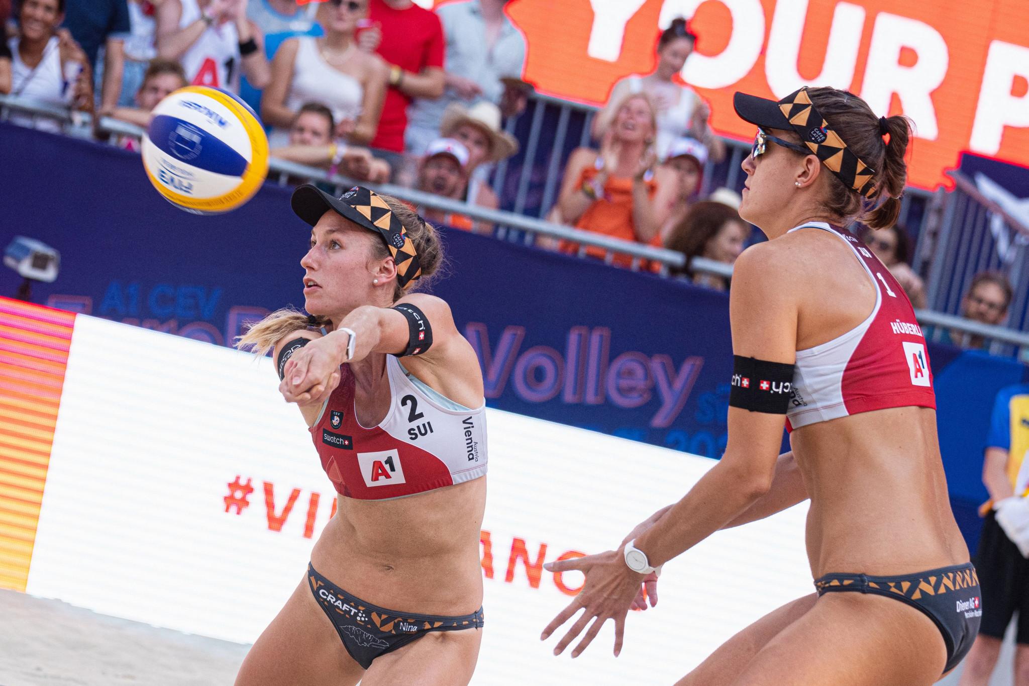 Betschart and Hüberli win EuroBeachVolley women's crown for Switzerland