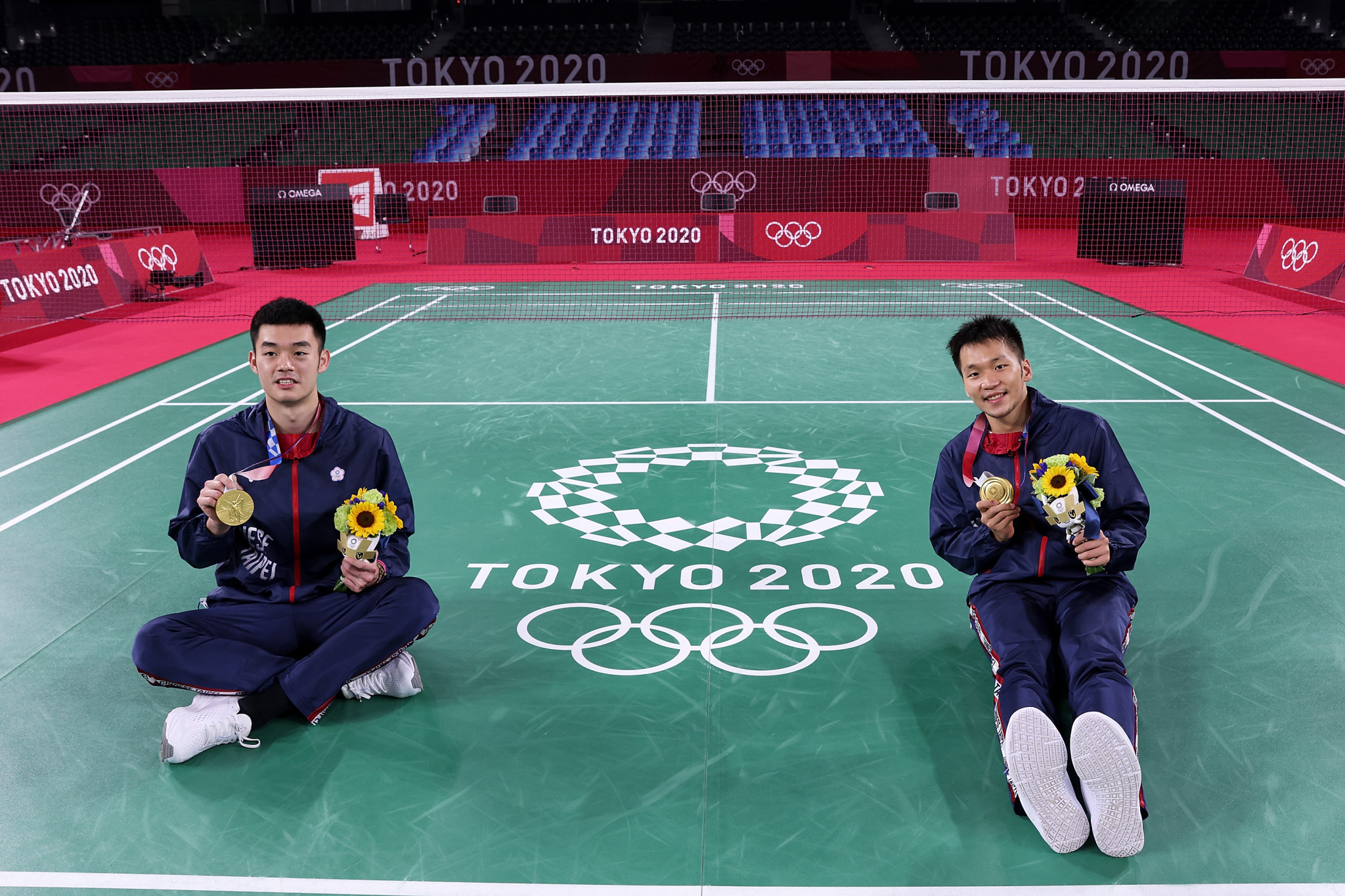 Lee Yang and Wang Chi-lin, who won Olympic men's doubles gold for Chinese Taipei at Tokyo 2020, will not be able to compete at a home BWF World Tour event this season ©Getty Images