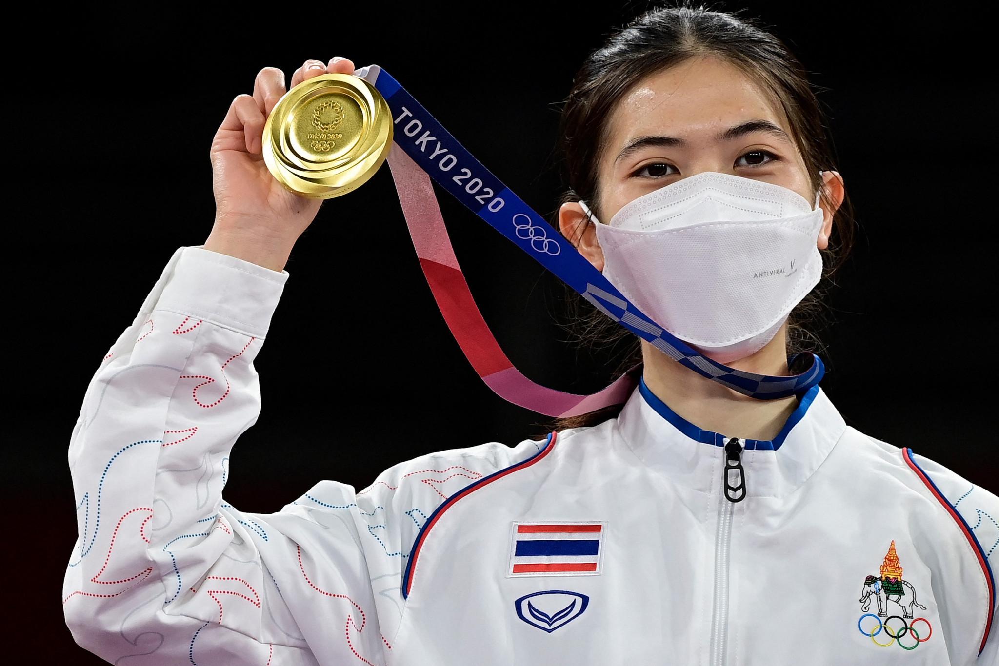 태국의 Panapak Wongpatanakit은 2020 도쿄 올림픽에서 아시아 태권도 금메달리스트 2명 중 한 명입니다. © Getty Images
