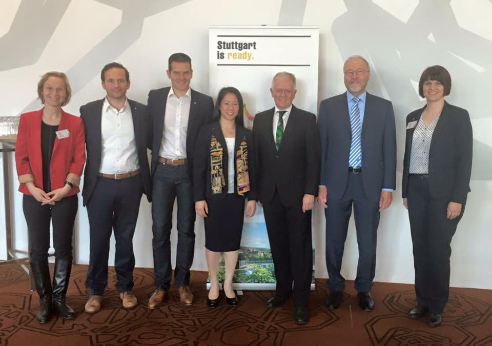 The successful German delegation that travelled to the FIG Council meeting in Melbourne, including German Gymnastics Federation President Rainer Brechtken and Fritz Kuhn
