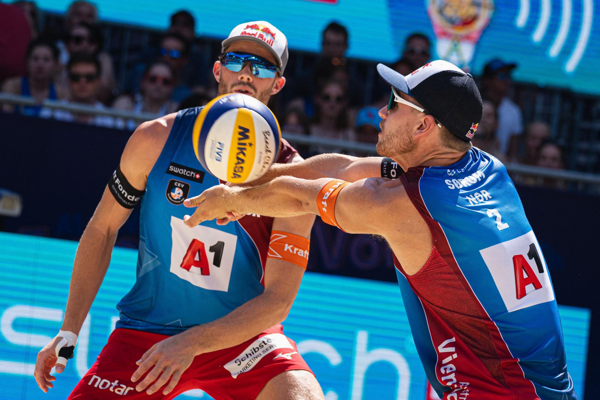Mol and Sørum win fourth successive men's EuroBeachVolley title