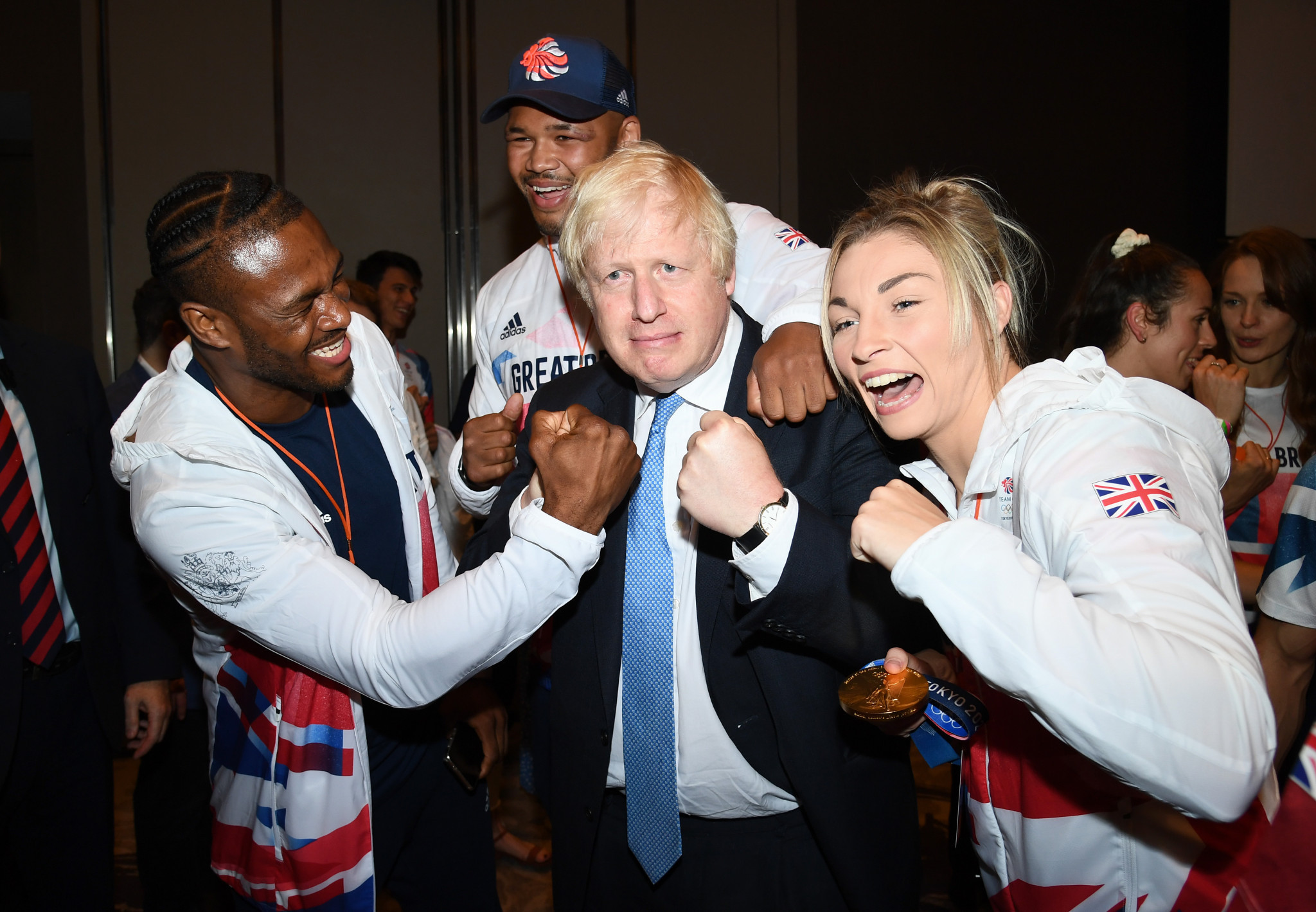 British Prime Minister made the announcement as Tokyo 2020 Olympians were celebrated at a concert ©Getty Images