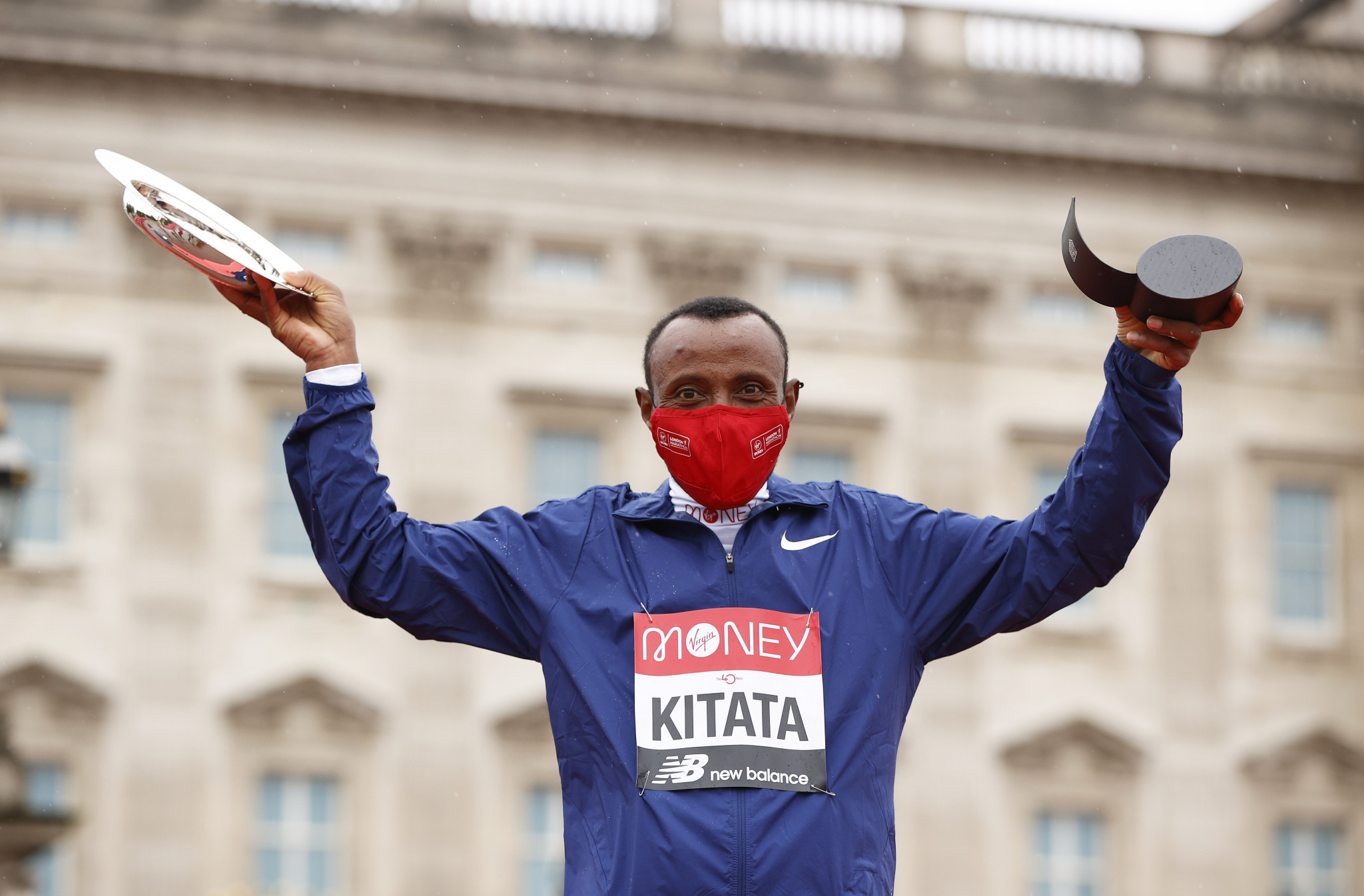 Shura Kitata of Ethiopia won the men's race at the 2020 London Marathon in a time of two hours, five minutes and 41 seconds ©Getty Images