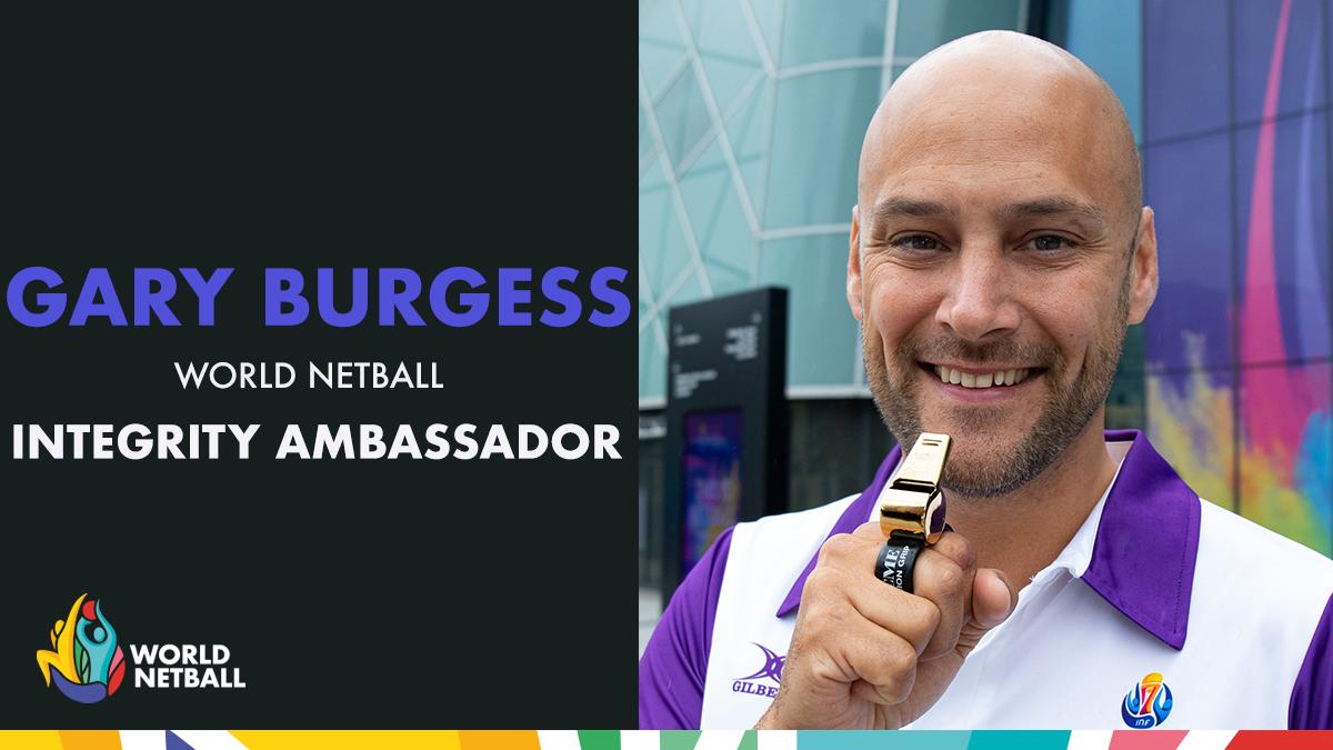 Umpire Gary Burgess named World Netball integrity ambassador