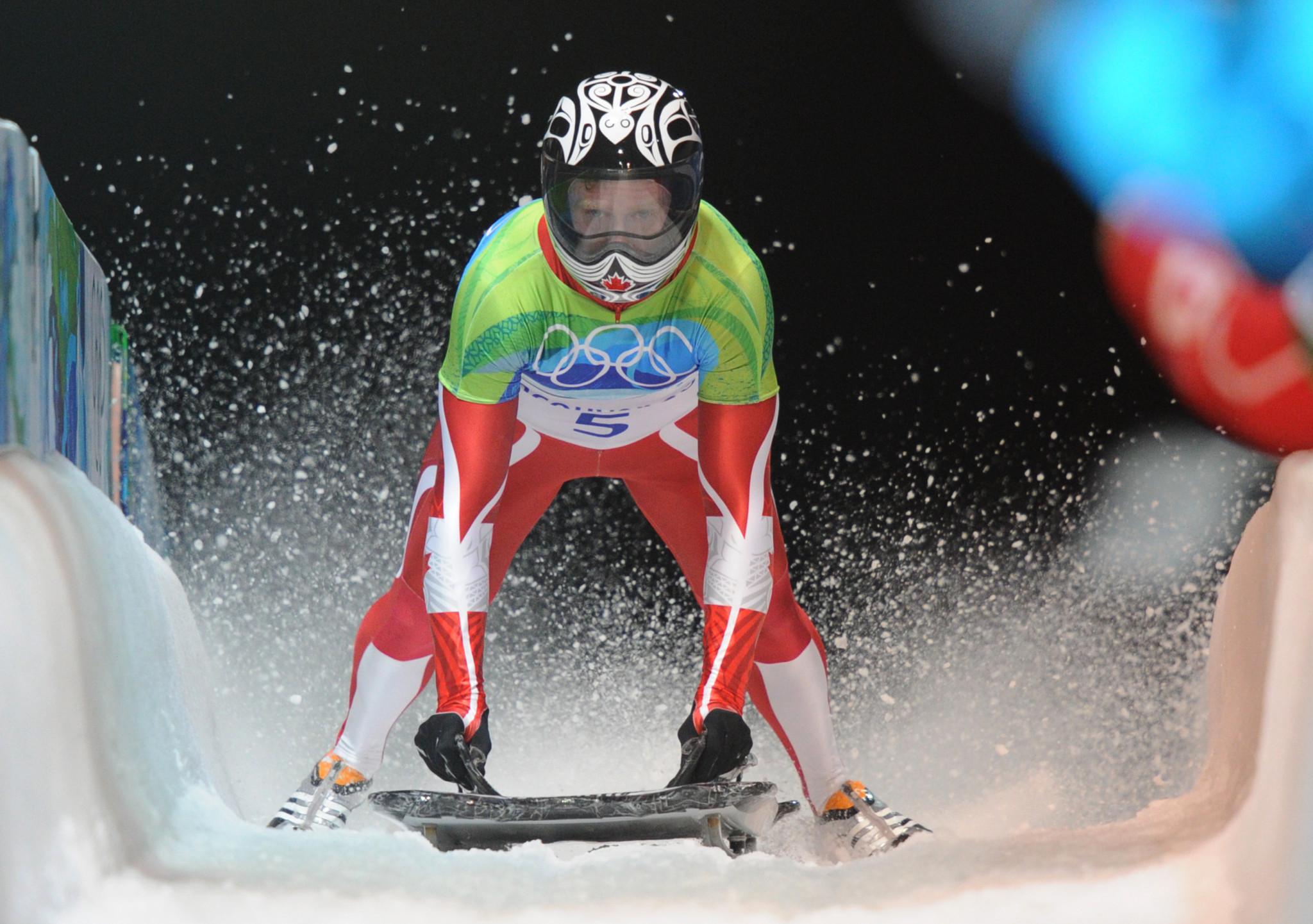 Whistler hosts Canada's only skeleton course, where Jon Montgomery won a home gold at Vancouver 2010 ©Getty Images