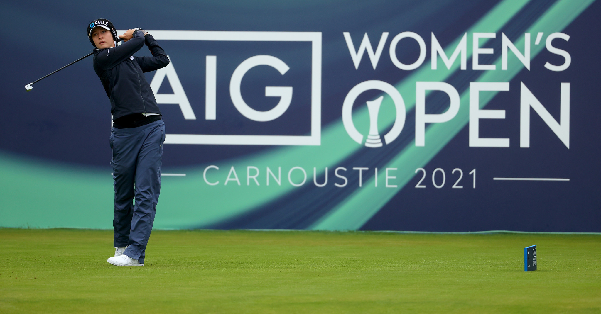 Korda, Sagstrom and Kim lead on day one of Women's Open at Carnoustie Golf Links