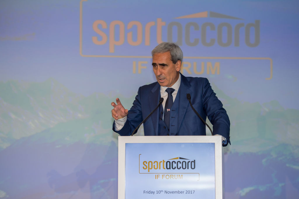 GAISF and SportAccord President Raffaele Chiulli confirmed the rescheduling of the summit earlier this month ©Getty Images