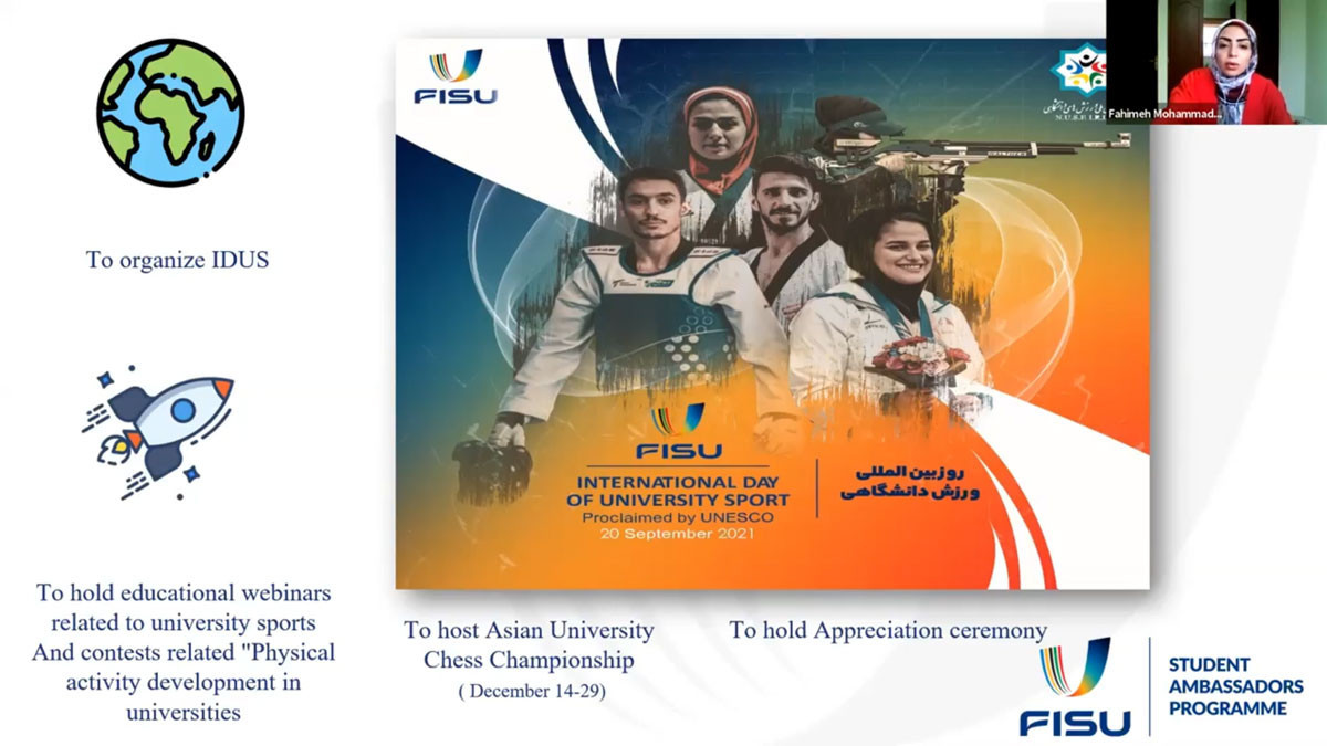 FISU student ambassadors hold virtual meeting for annual review