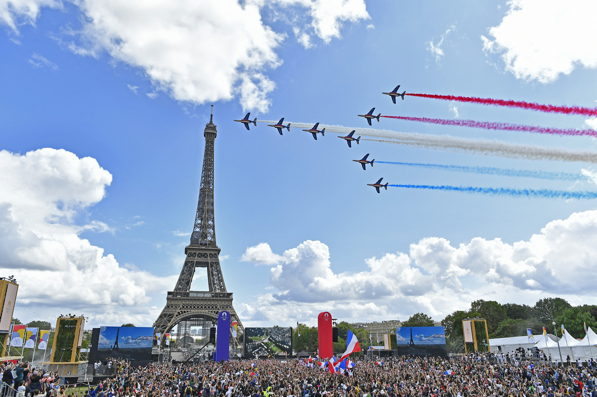 Opinion poll claims 80 per cent of French people like handover section at Tokyo 2020