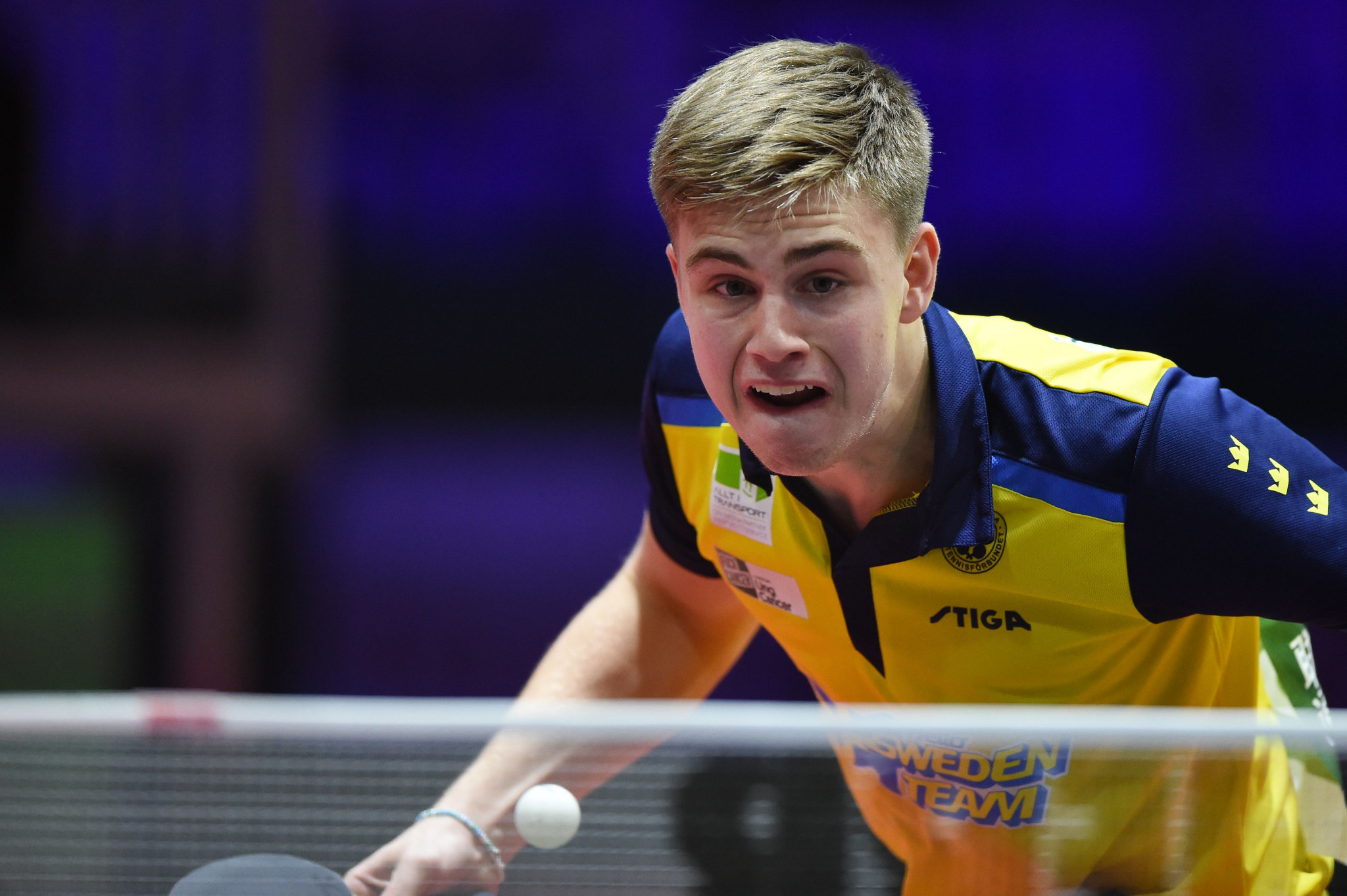 Sweden's Truls Moregard became the second-youngest player to win a WTT men's singles event as he beat Germany's Kilian Ort in the final ©Getty Images