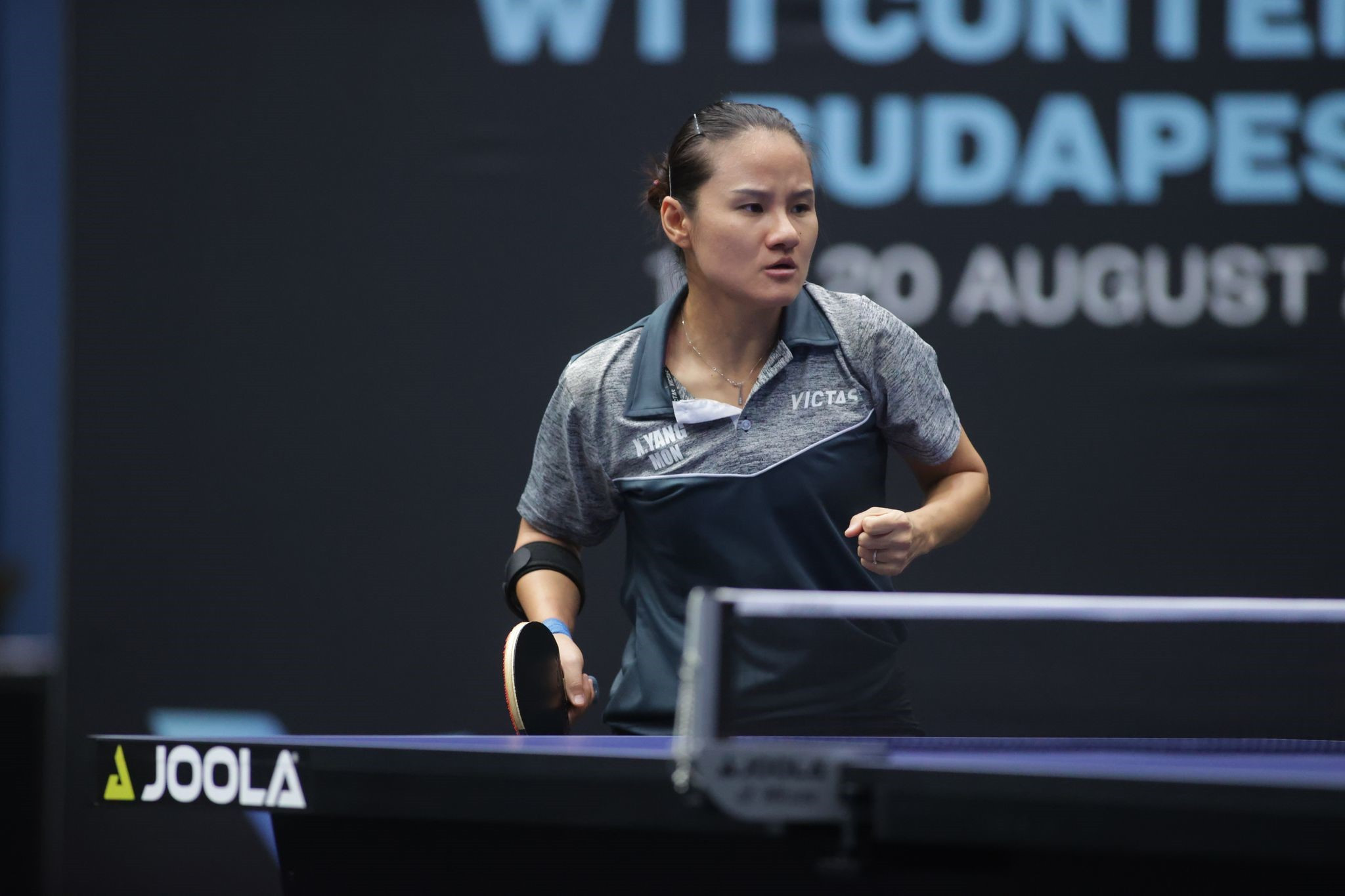 Top seed Yang Xiaoxin of Monaco dropped just two games in five matches at WTT Contender Budapest, and defeated Russia's Elizabet Abraamian in straight games in the final ©WTT