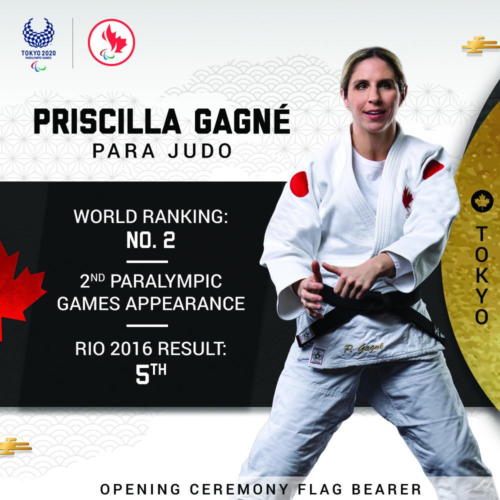 Judoka Gagné named as Canada's flagbearer for Tokyo 2020 Paralympics