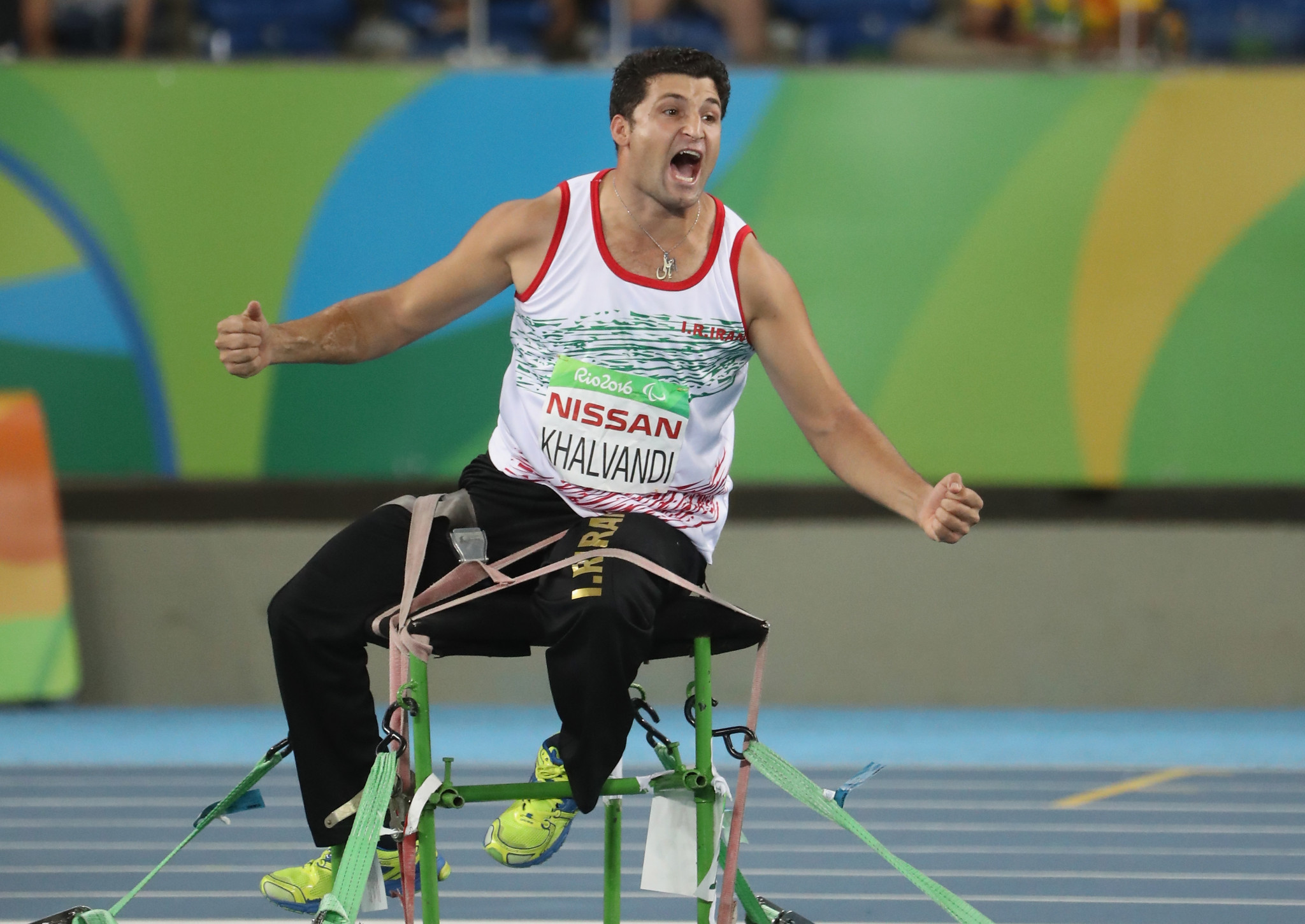 Javelin thrower Mohammad Khalvandi was one of eight gold medallists for Iran at Rio 2016 ©Getty Images