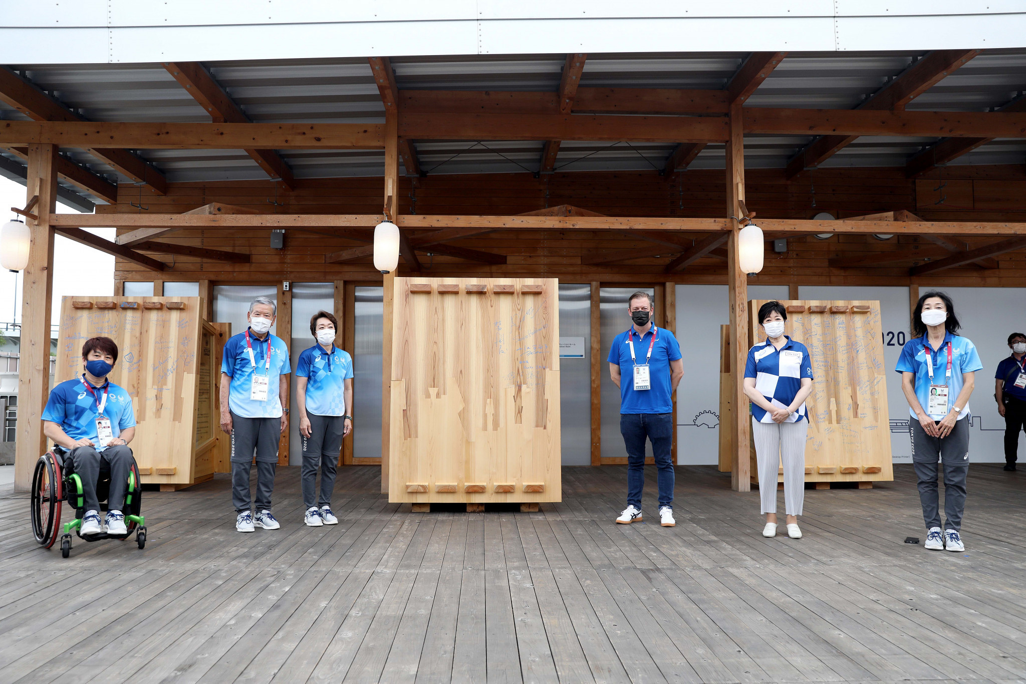 Tokyo 2020 Paralympics Mural unveiled at Athletes' Village during ceremony