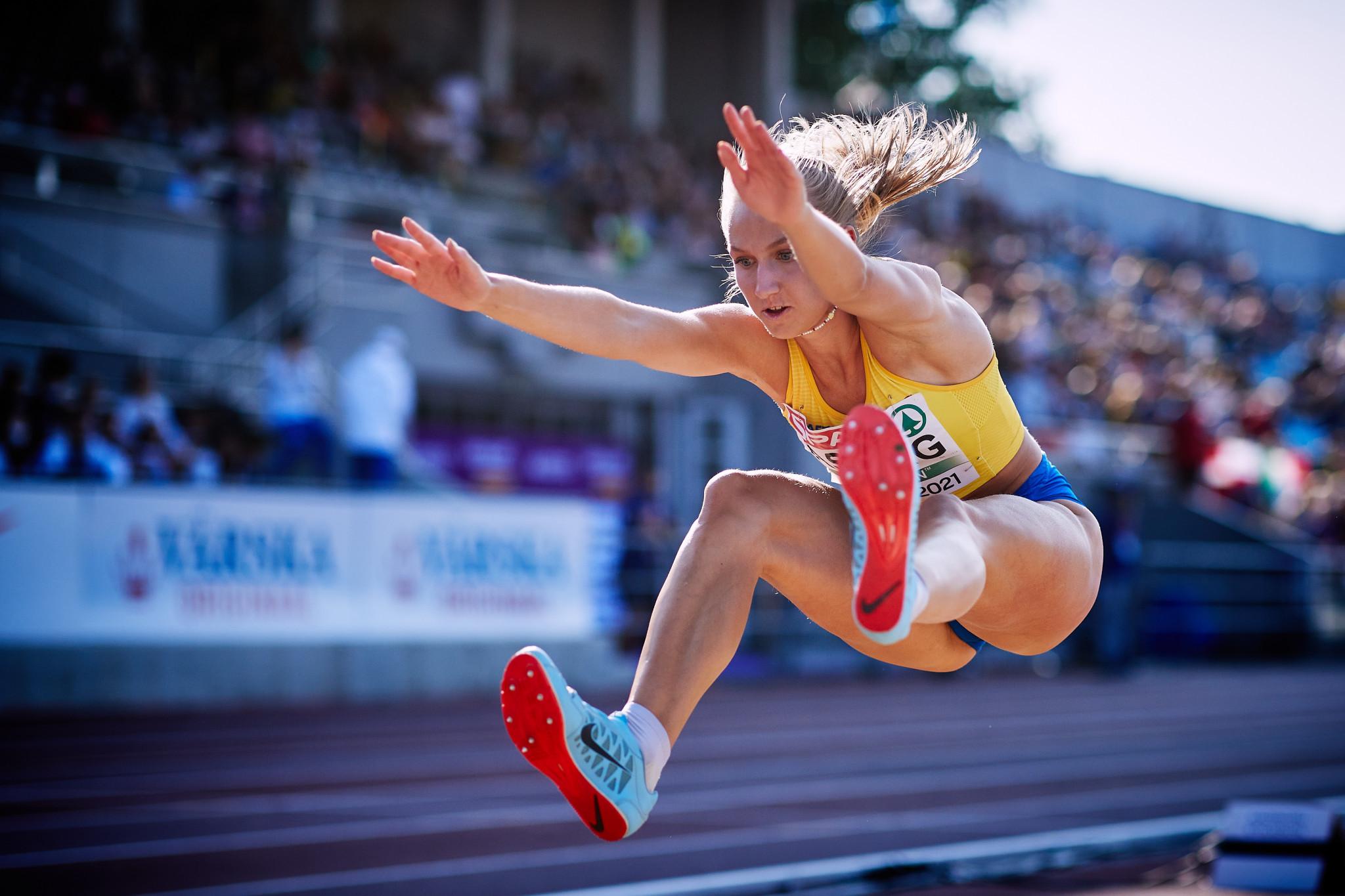 Sweden's Maja Åskag completed the triple jump-long jump double in Nairobi ©Dan Vernon for World Athletics