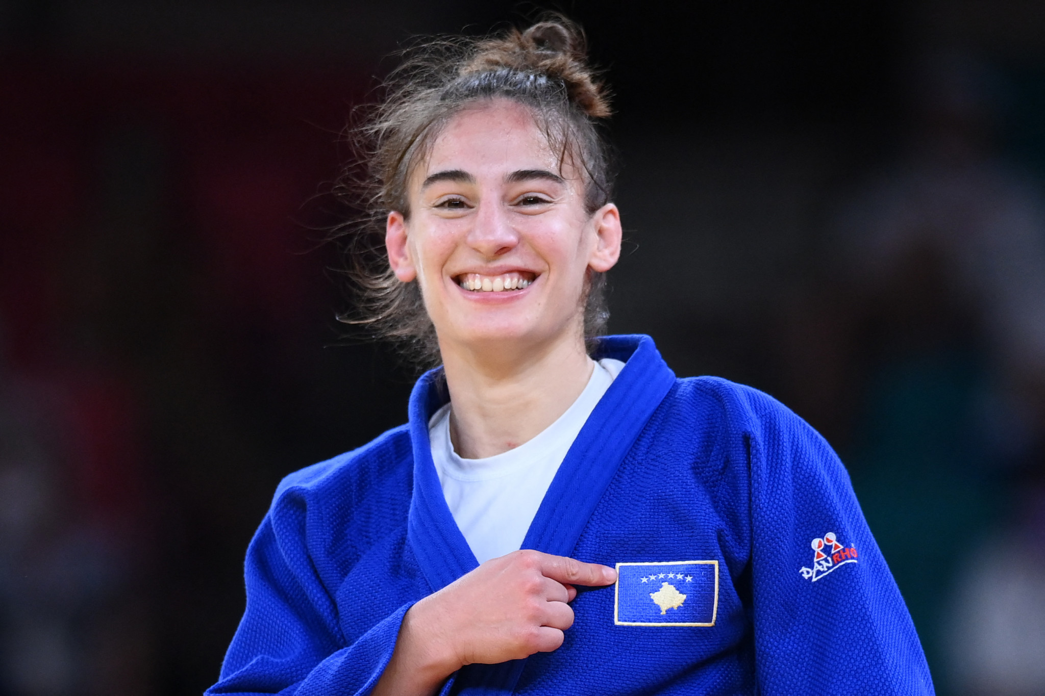 Kosovo's Nora Gjakova also won a gold medal at the 2018 European Judo Championships ©Getty Images