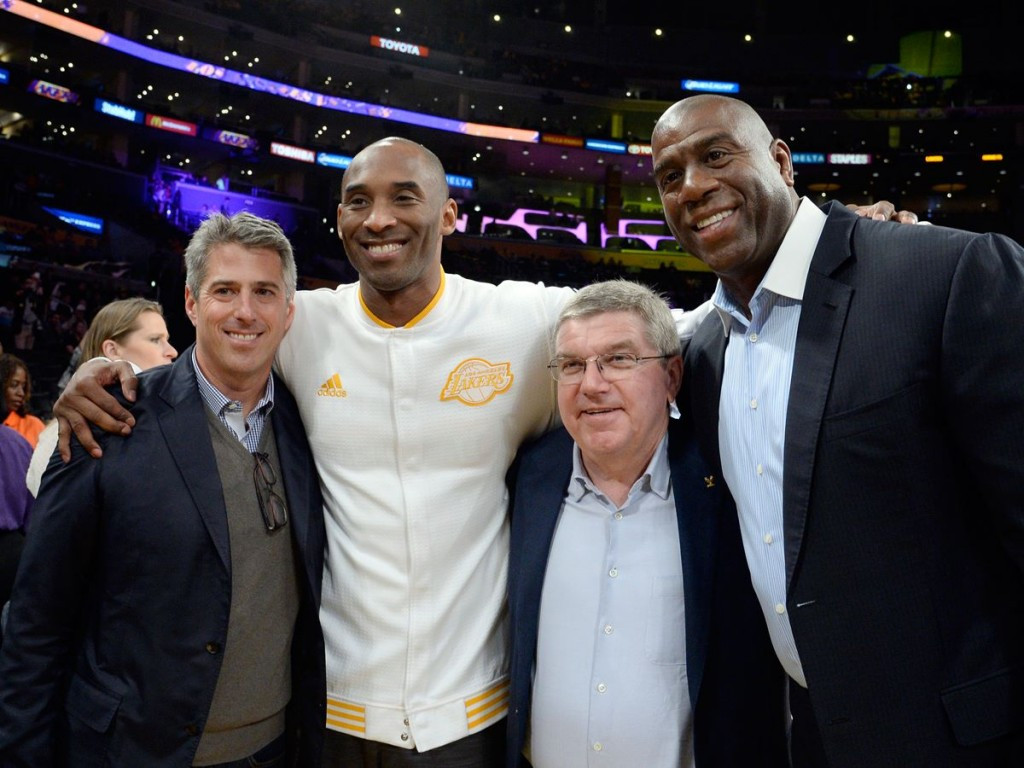 IOC President Thomas Bach visited Los Angeles this week