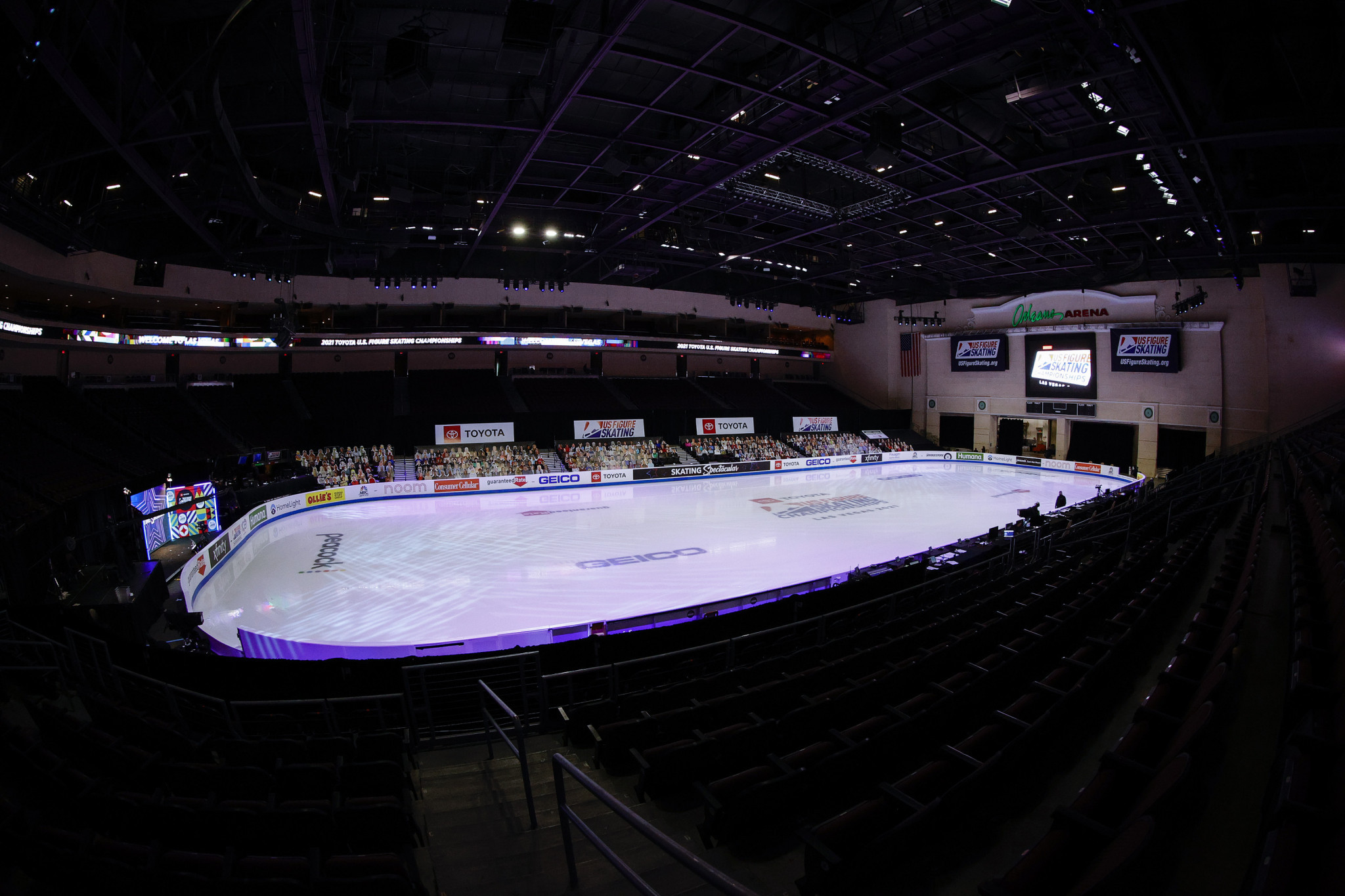 The 8,000-seater Orleans Arena hosted the U.S Figure Skating Championships in 2021 ©Getty Images
