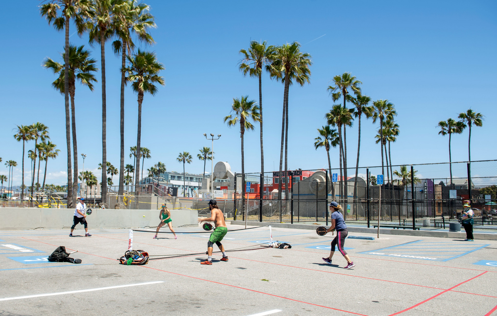 Communal sports are an iconic feature of Los Angeles' Venice Beach but the funding will allow many more facilities to be built and renovated ©Getty Images