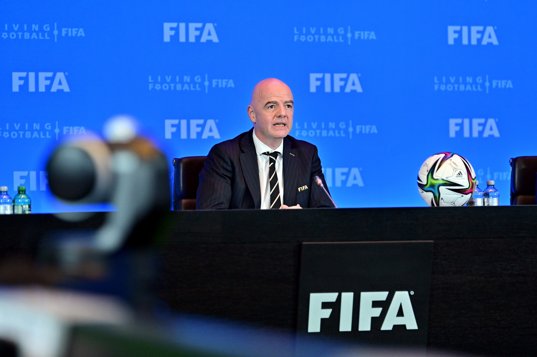 FIFA President Gianni Infantino has called for an exemption from UK quarantine laws for players on international duty ©Getty Images