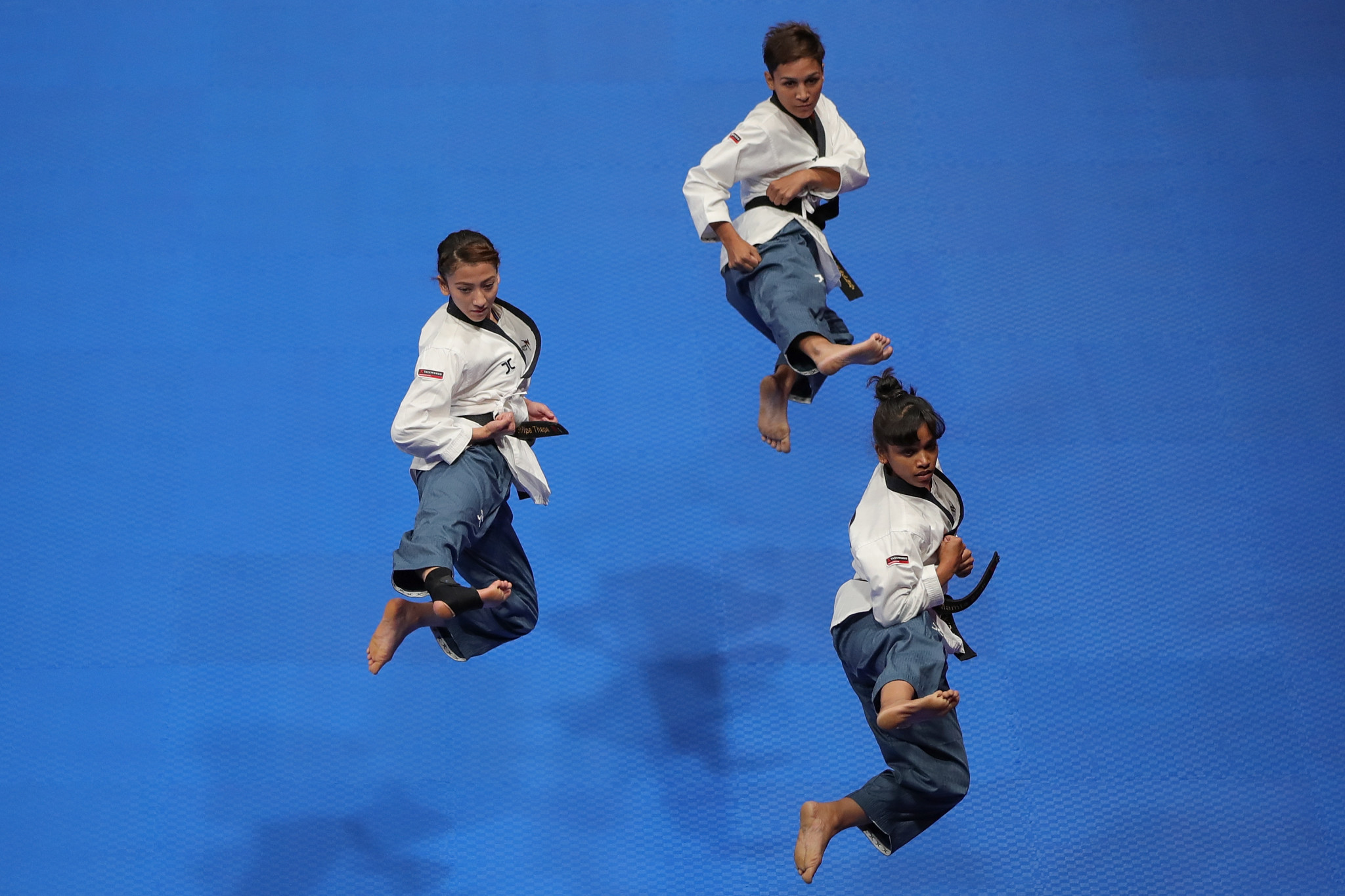 Poomsae taekwondo sees athletes perform a choreographed series of moves - such as kicks, blocks and punches ©Getty Images