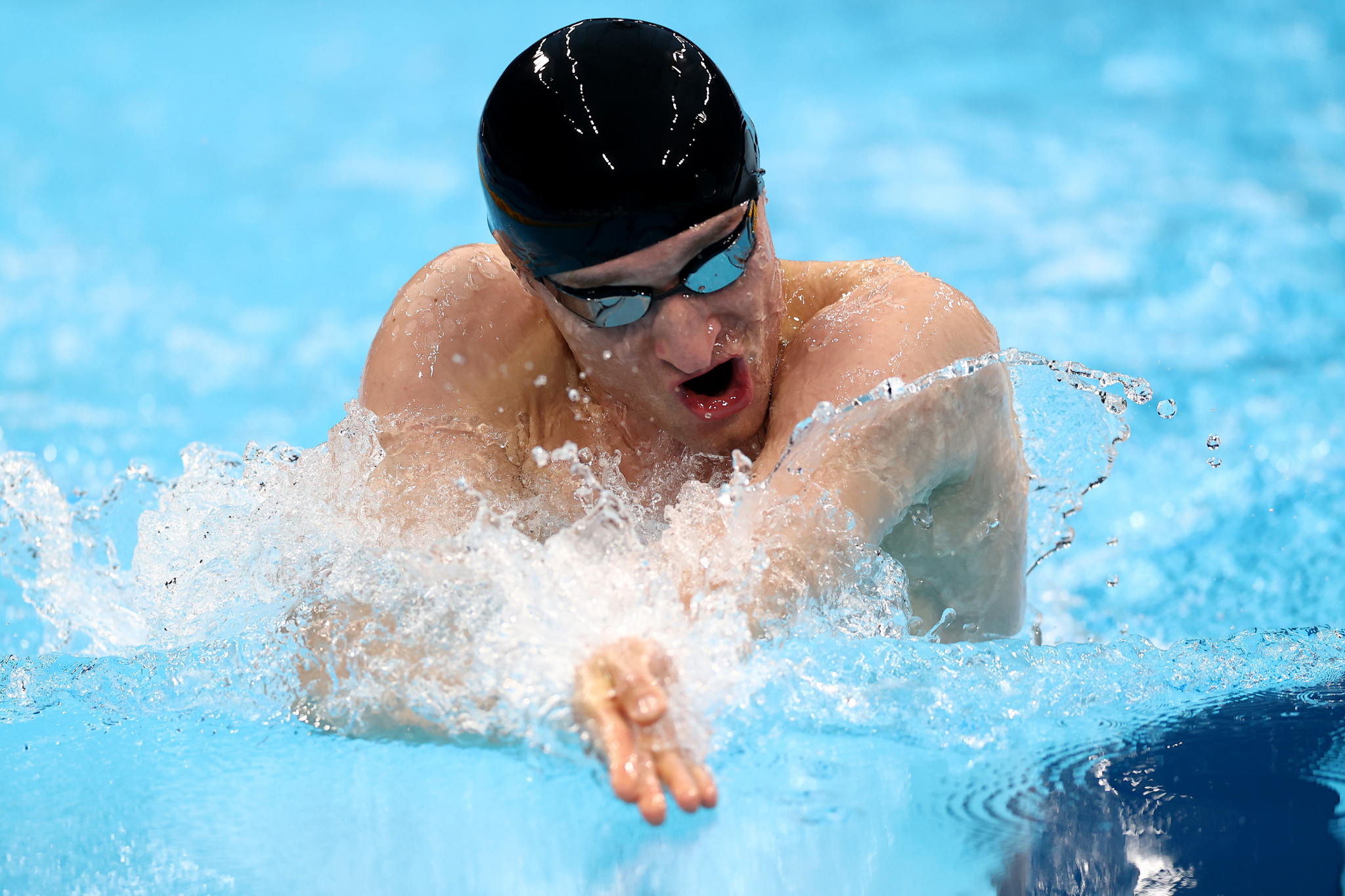 Andrei Kalina beat closest challenger Oscar Salguero Galisteo by 2.67 seconds in the final of the men's SB8 100m breaststroke at the Tokyo Aquatics Centre ©Getty Images