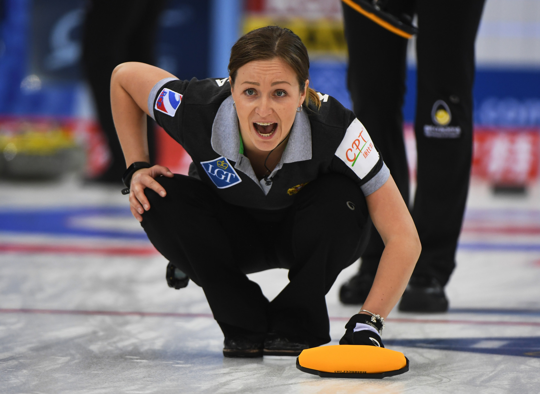 Alina Kovaleva skipped Russia's women's curling team to a second place finish at the 2021 World Championships ©Getty Images